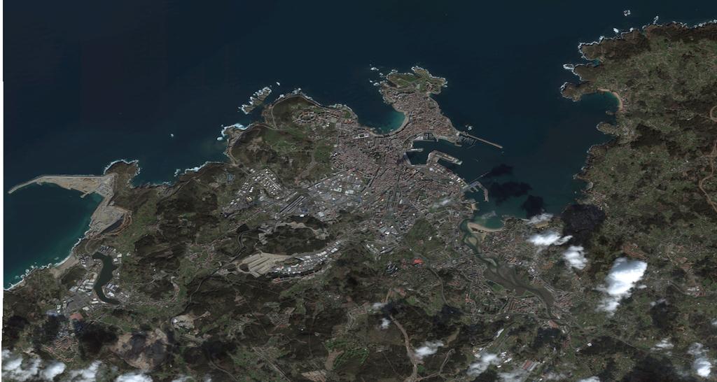 Mapa satelital de La Coruña