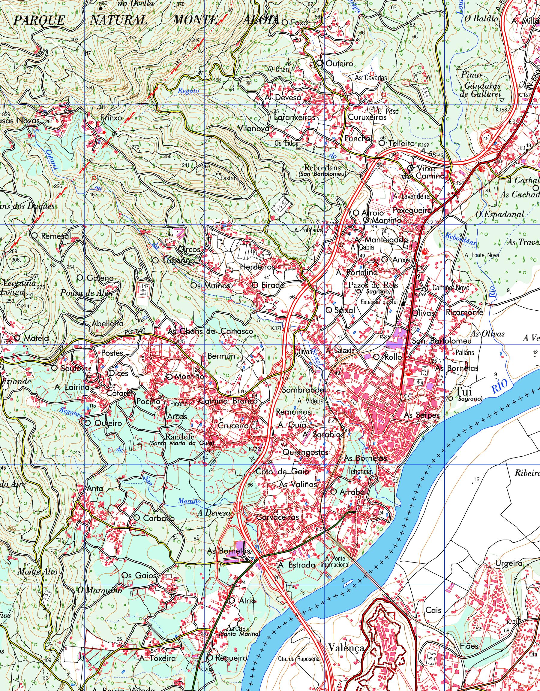 Mapa de Tuy
