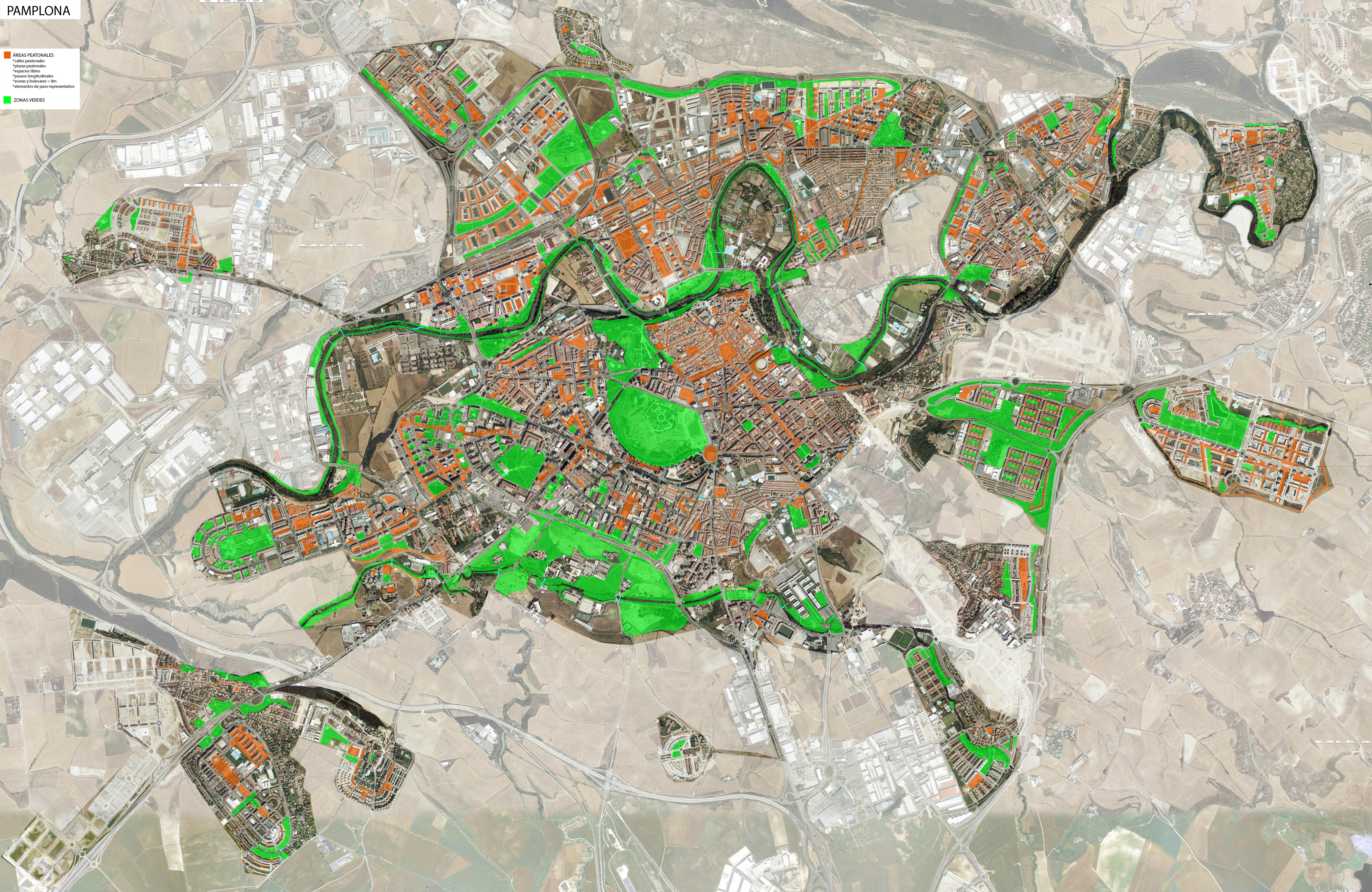 Áreas peatonales de Pamplona