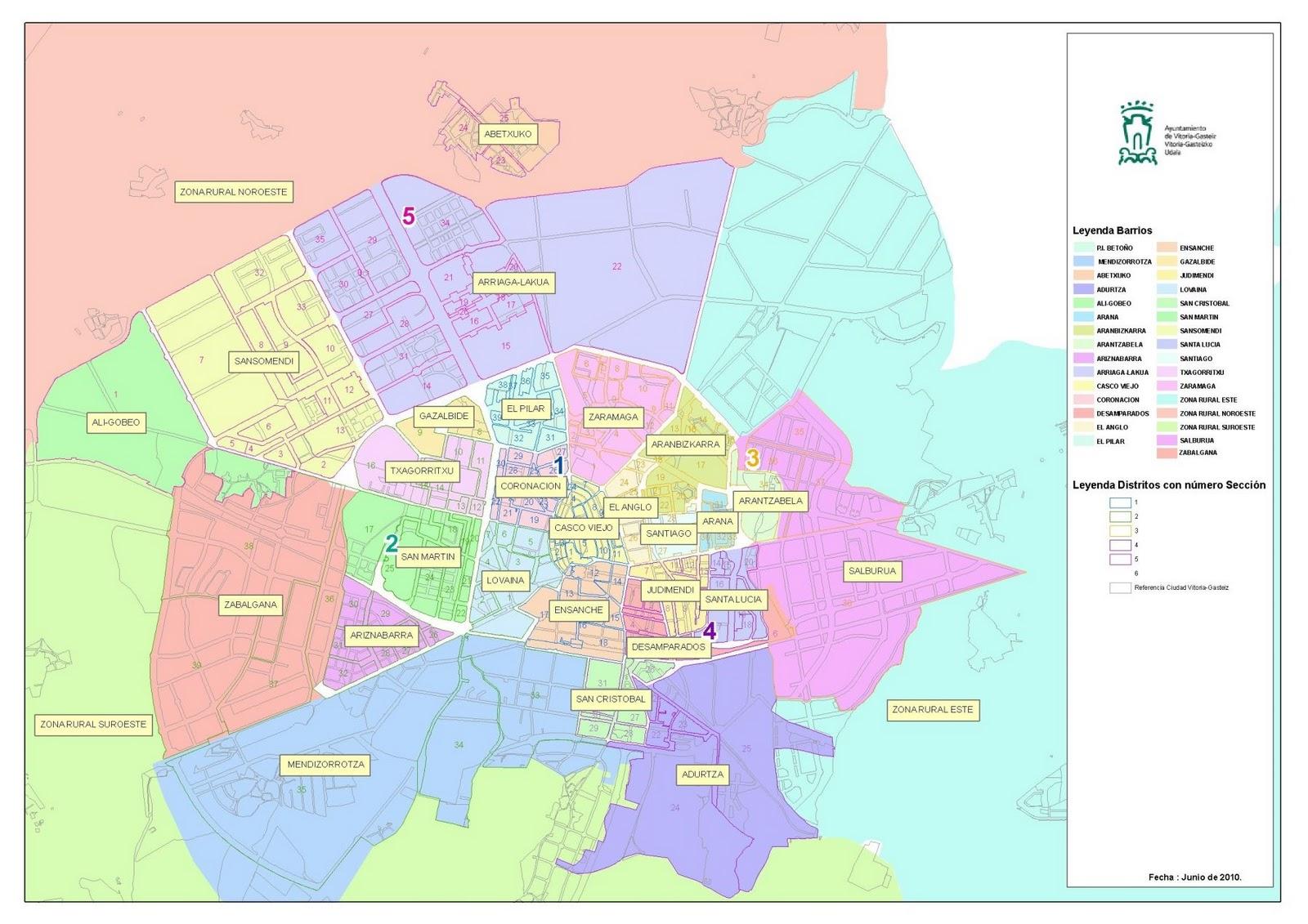 Los barrios de Vitoria 2010