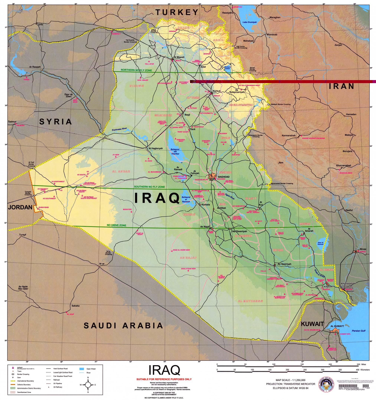 Mapa de Irak 2003