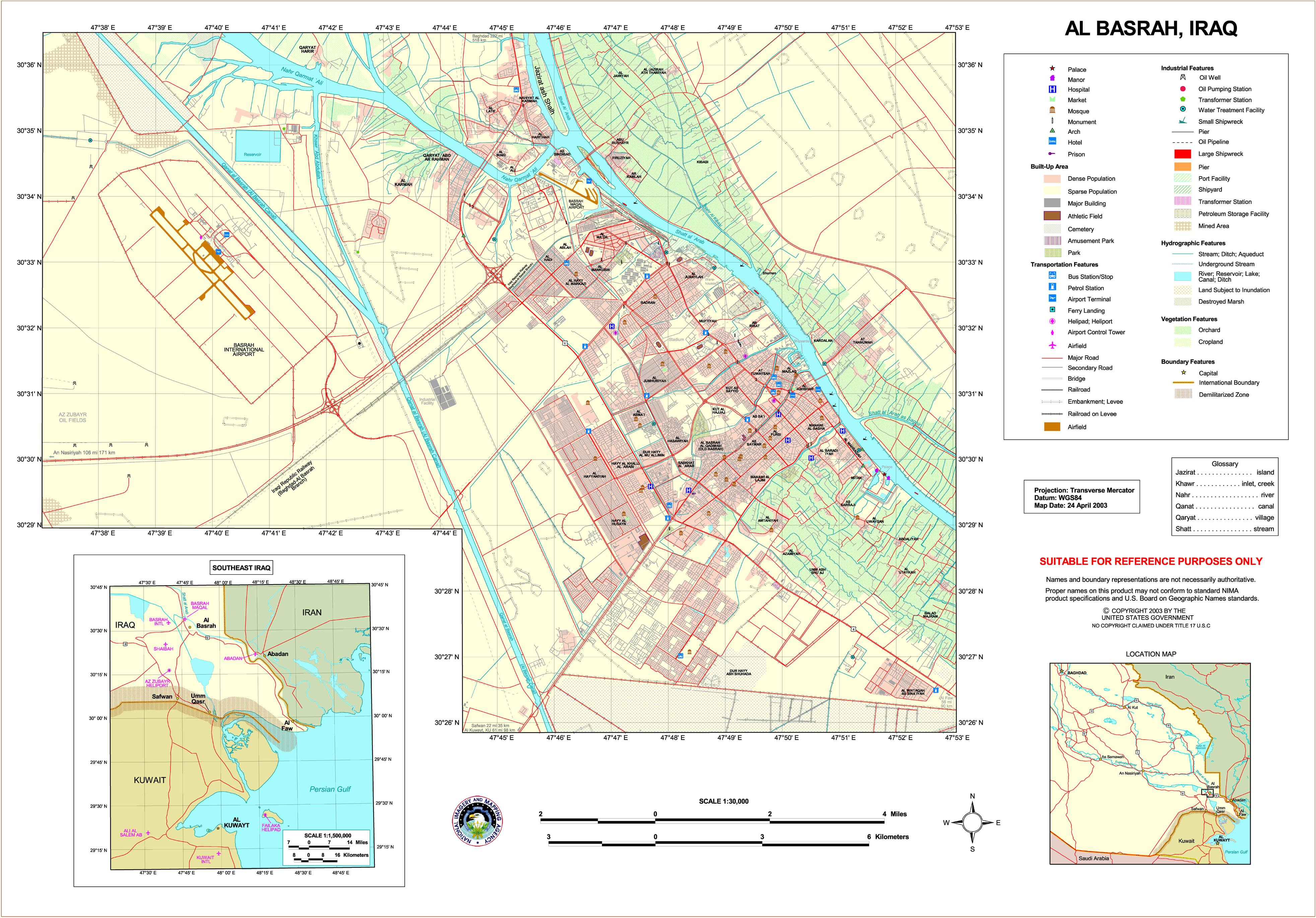 Basra map 2003
