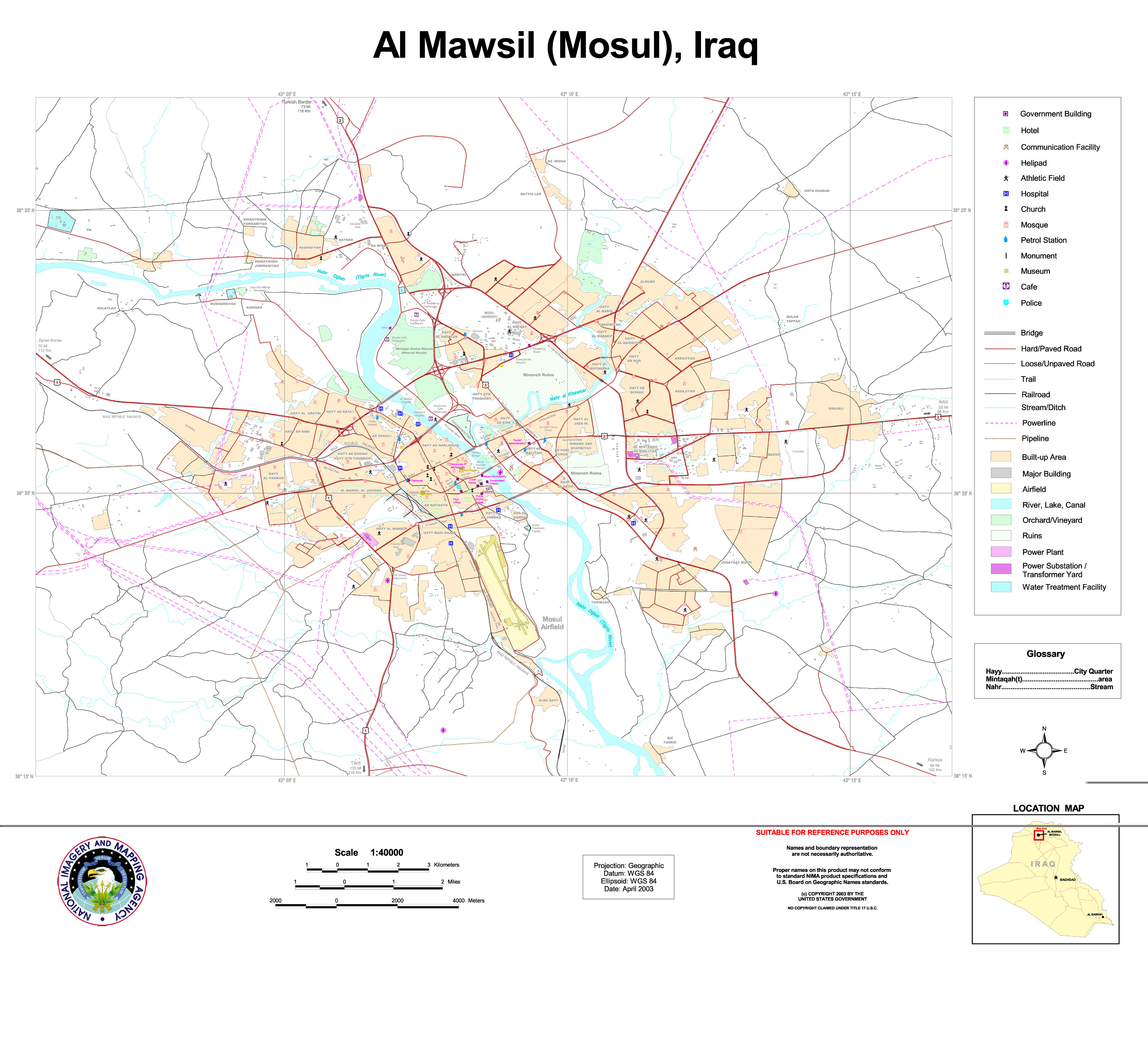 Mapa de Mosul 2003