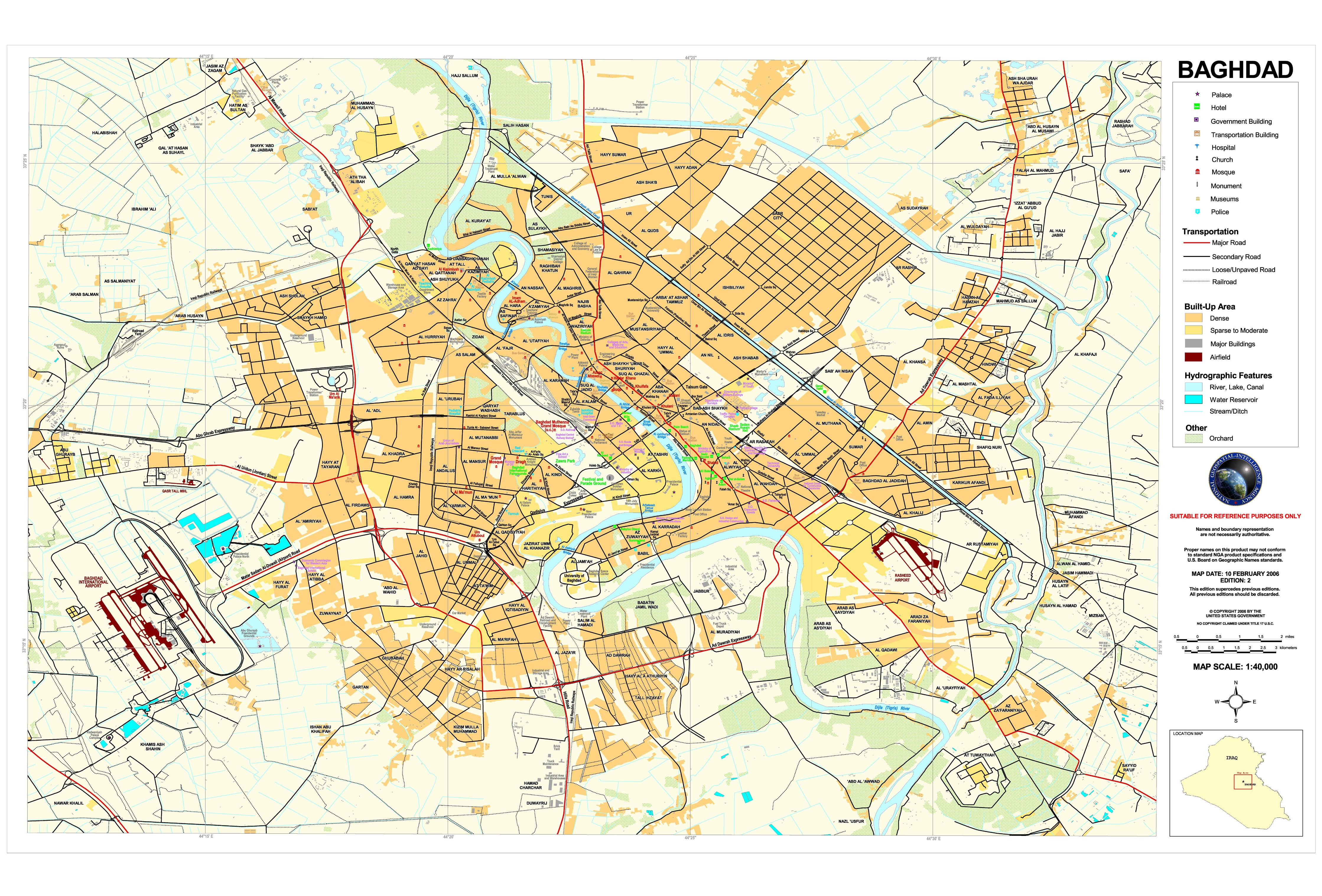 Mapa de Bagdad 2006