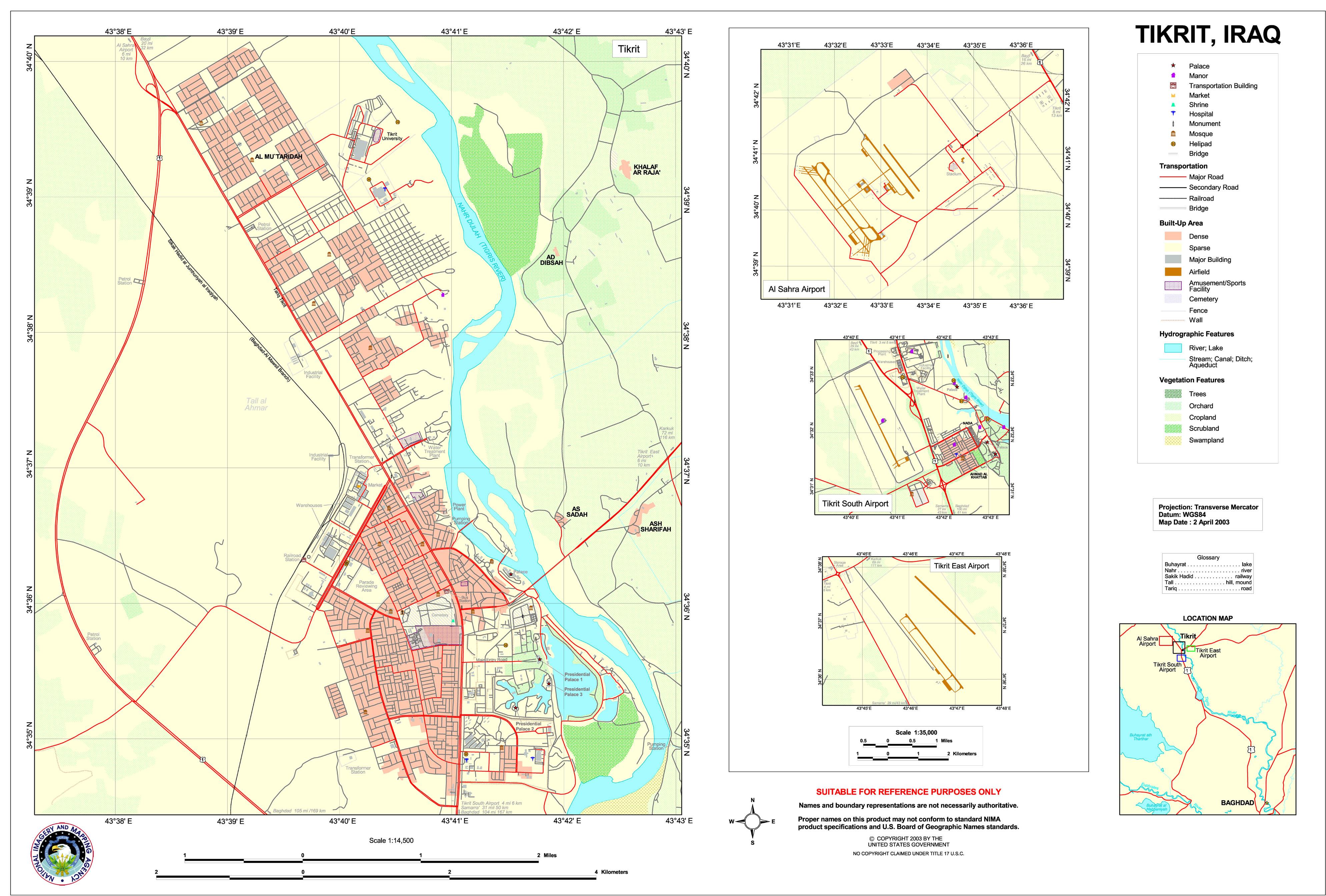 Mapa de Tikrit 2003