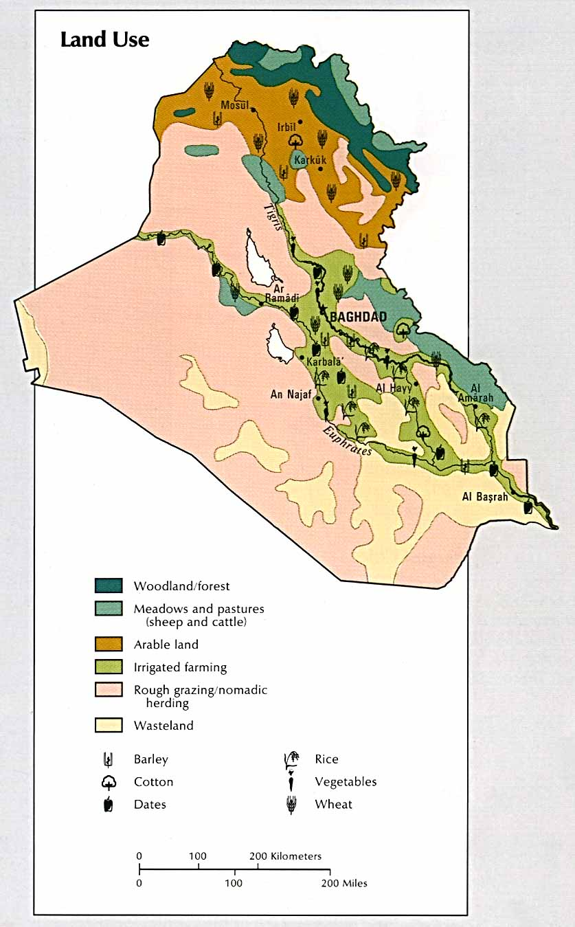 Land Use in Iraq 1993