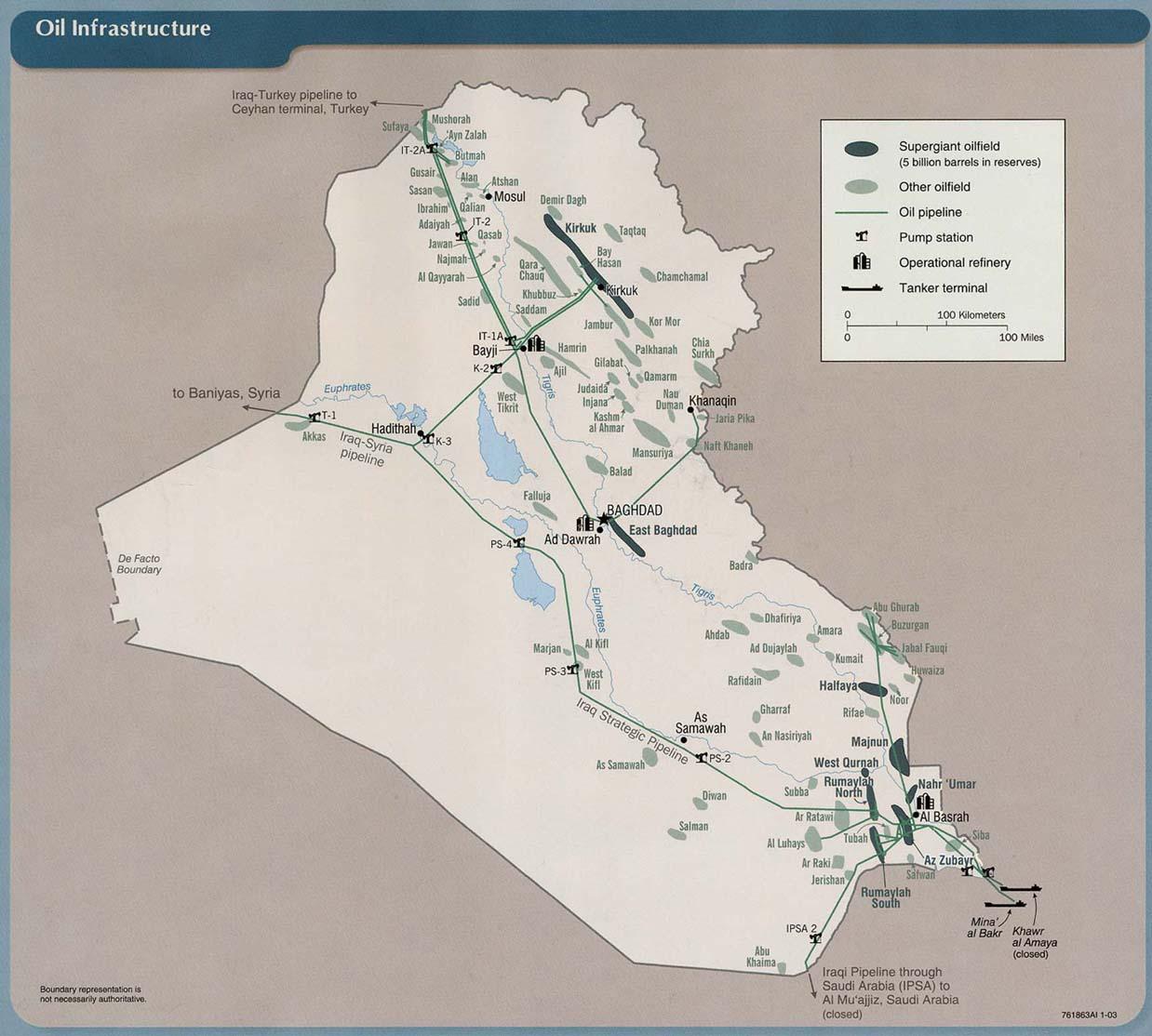 Infraestructura petrolera en Iraq 2003