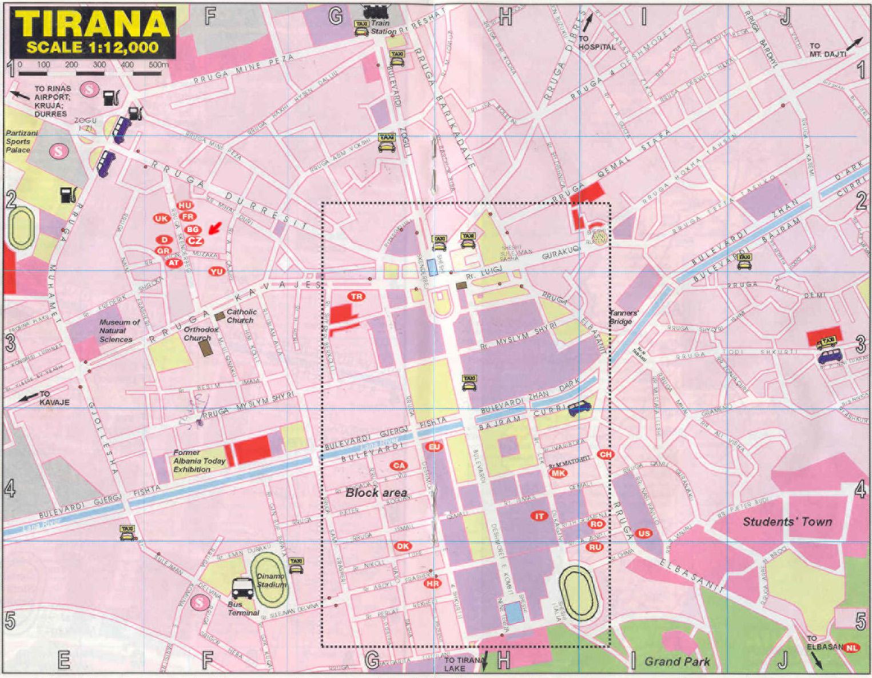 Tirana downtown