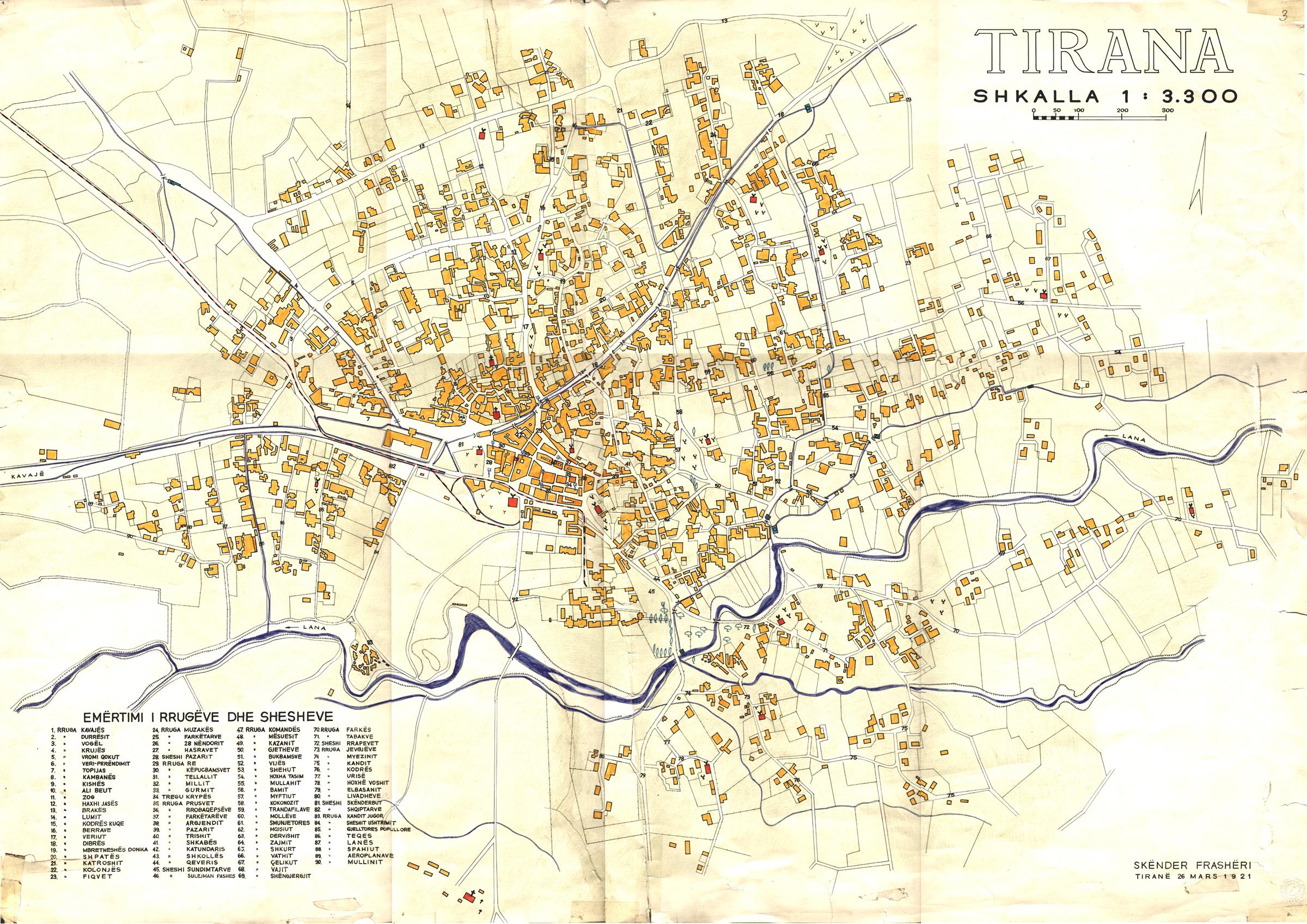 Tirana map 1921