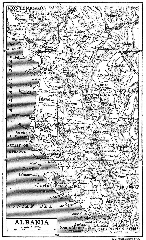 Mapa de Albania 1906