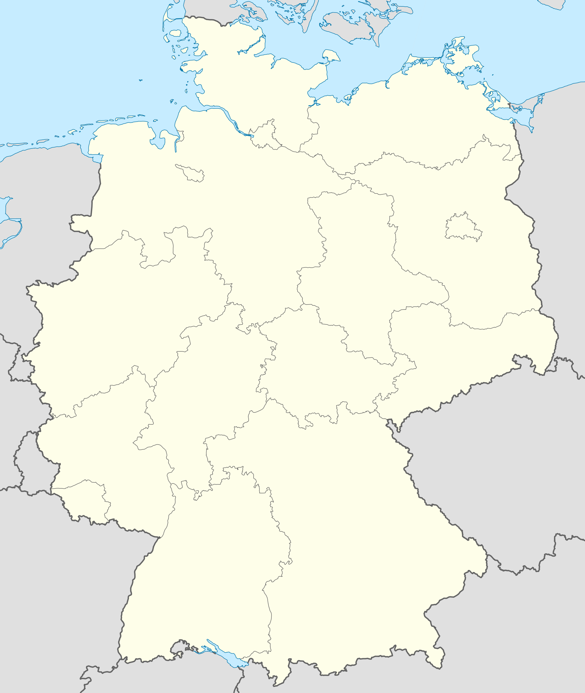 Germany blank map