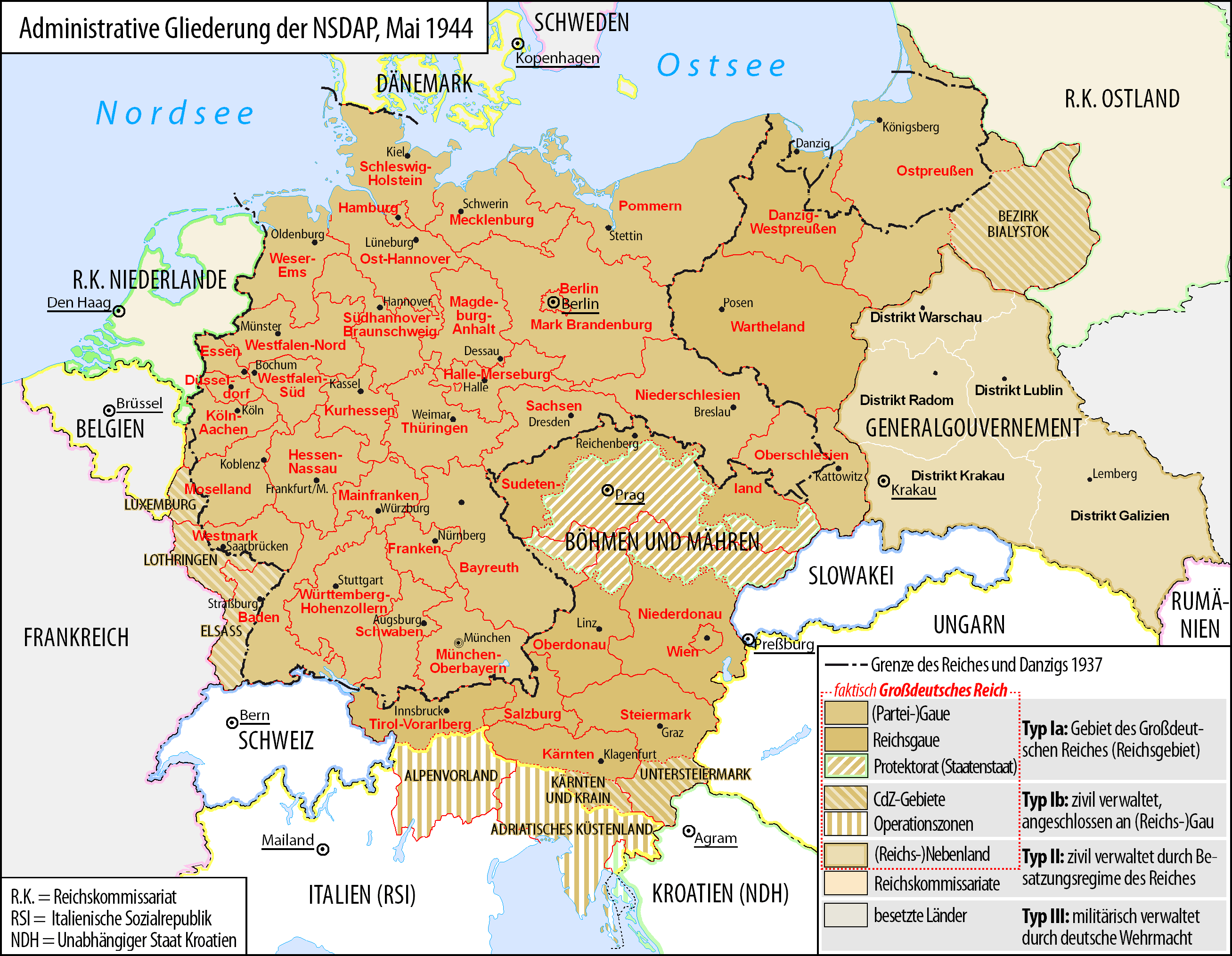 Administrative division of the German Third Reich