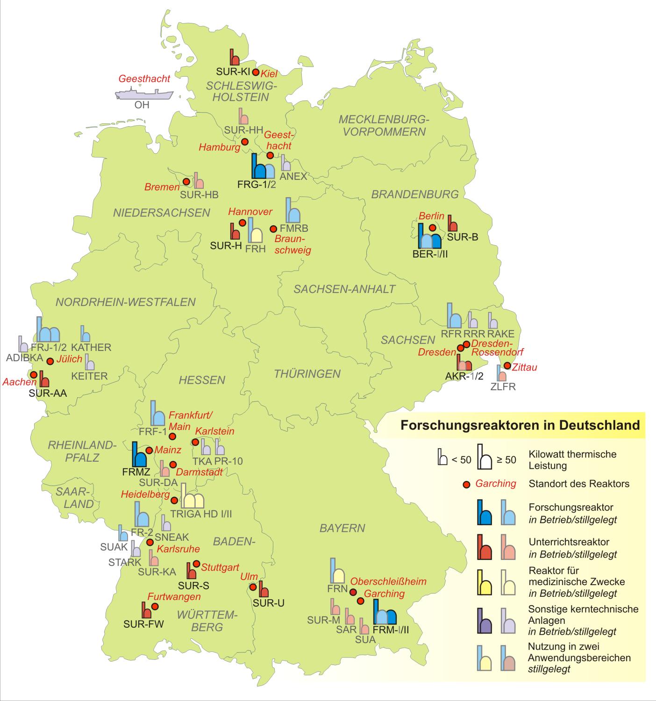 Reactores nucleares de investigación en Alemania 2007