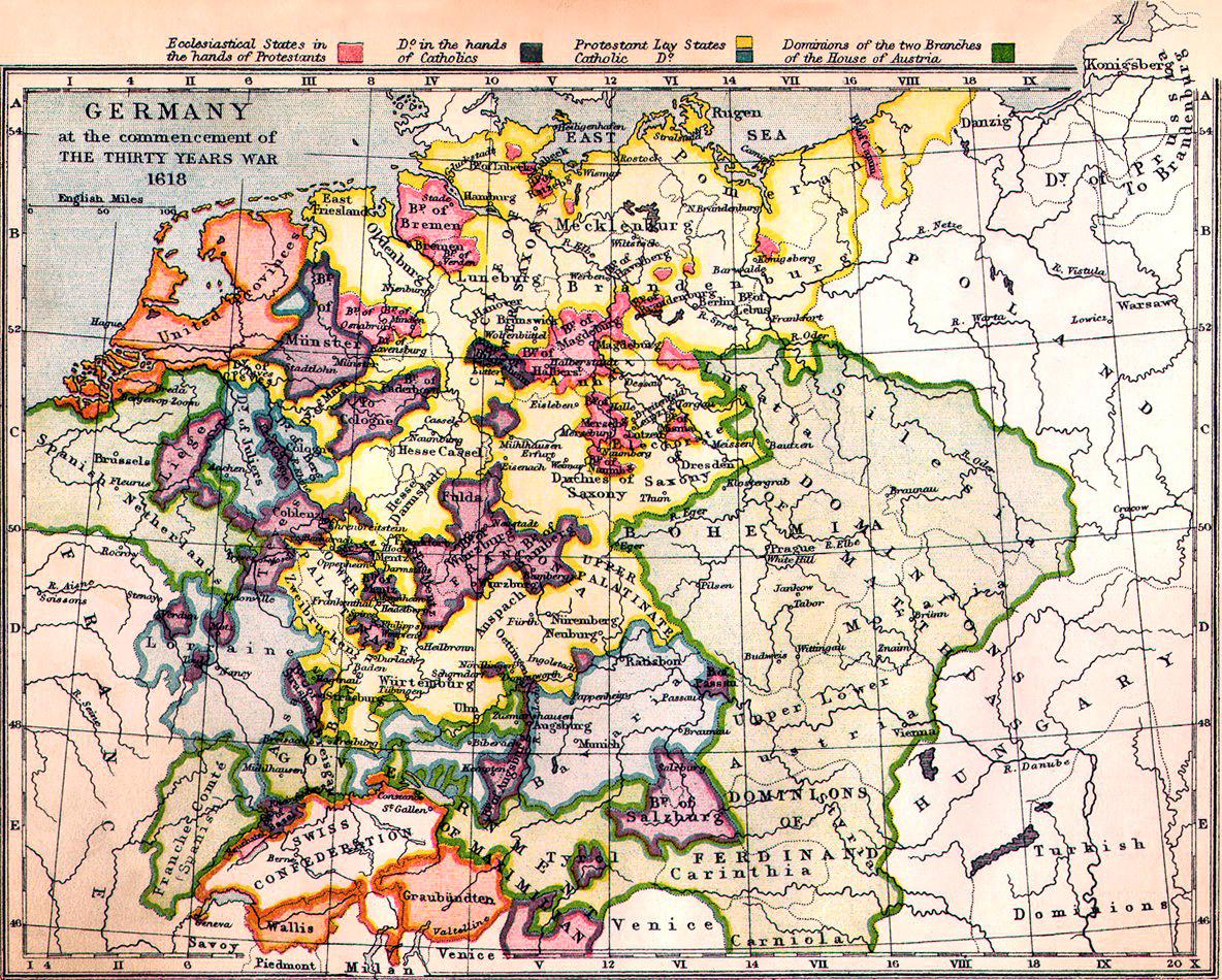 Alemania al comienzo de la Guerra de Treinta Años 1618