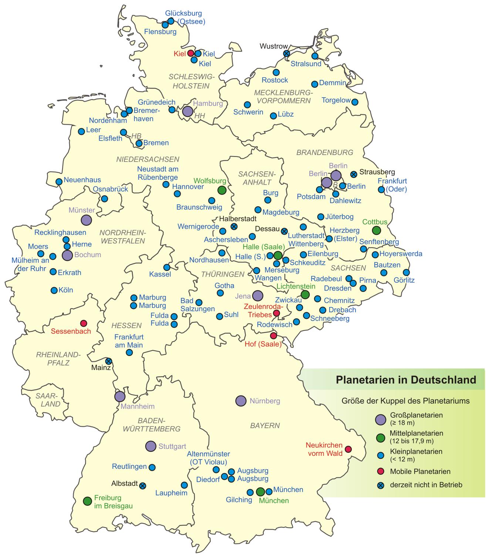 Planetarios en Alemania 2007
