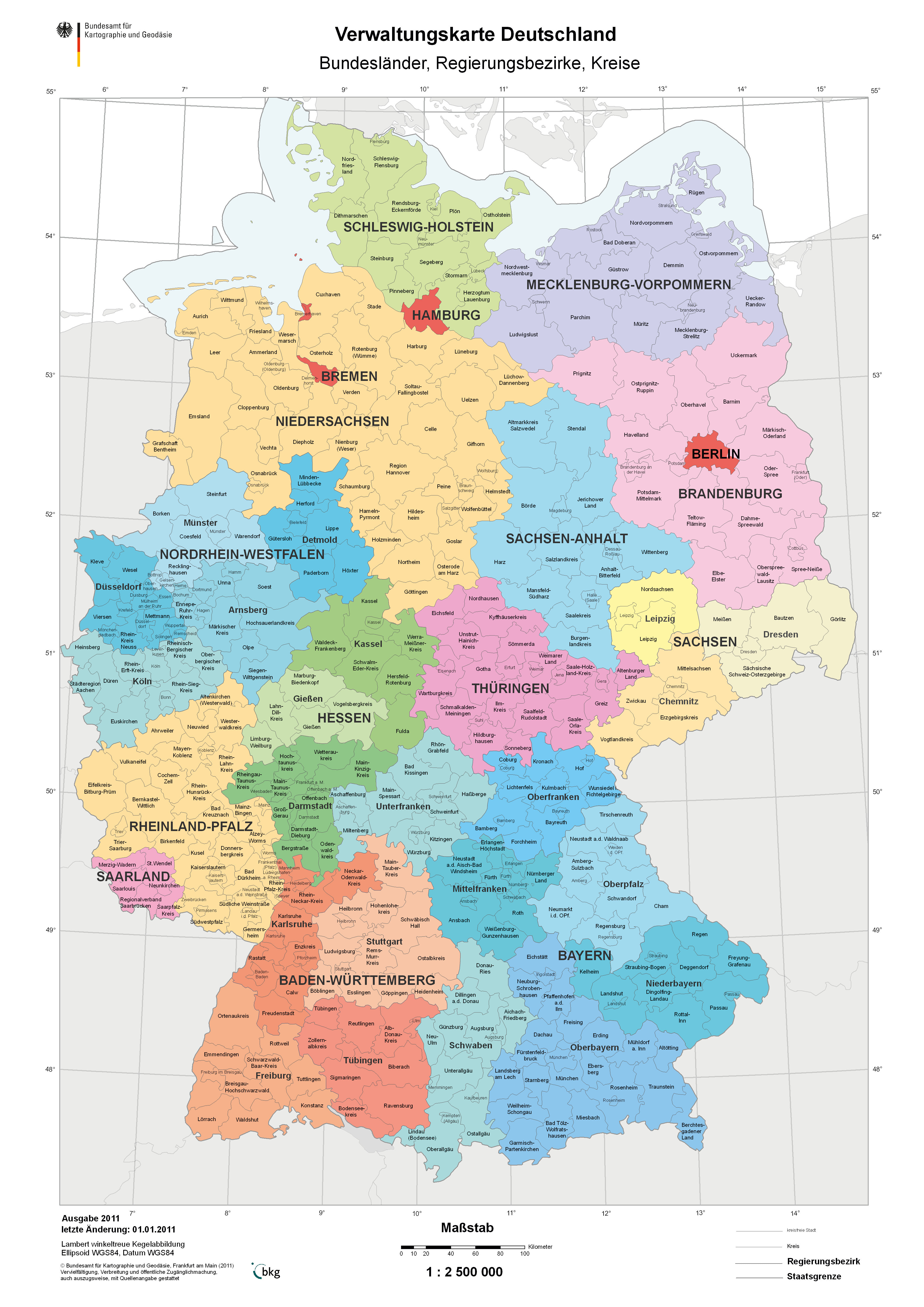 Districts of Germany 2011