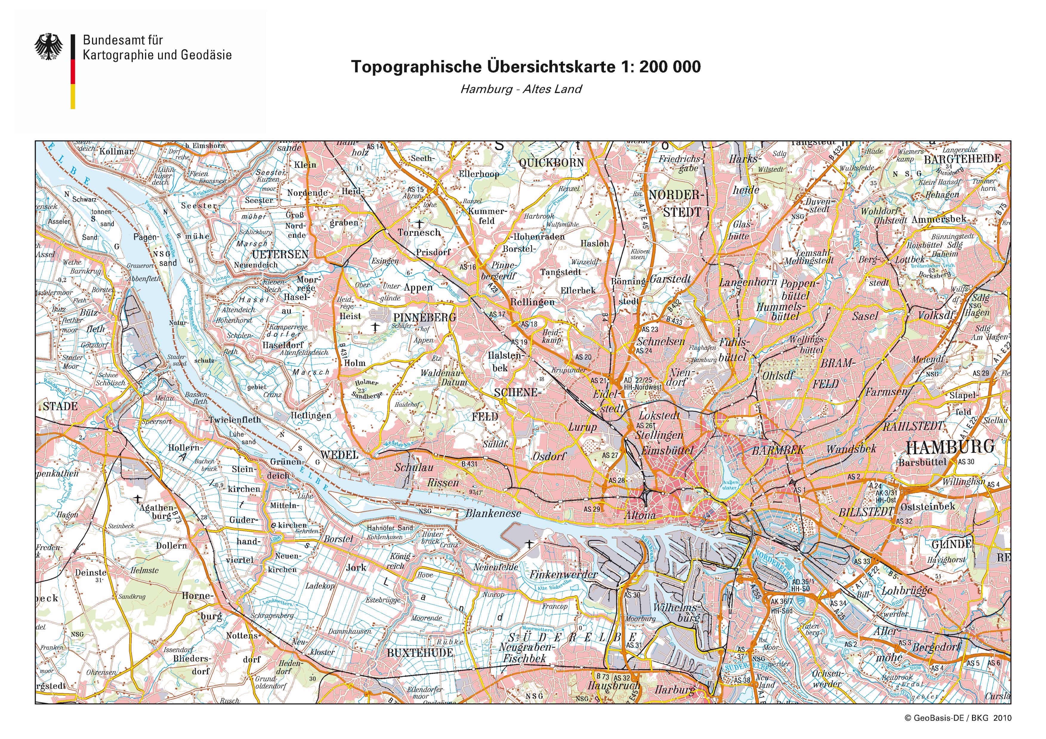 Mapa de Hamburgo 2010