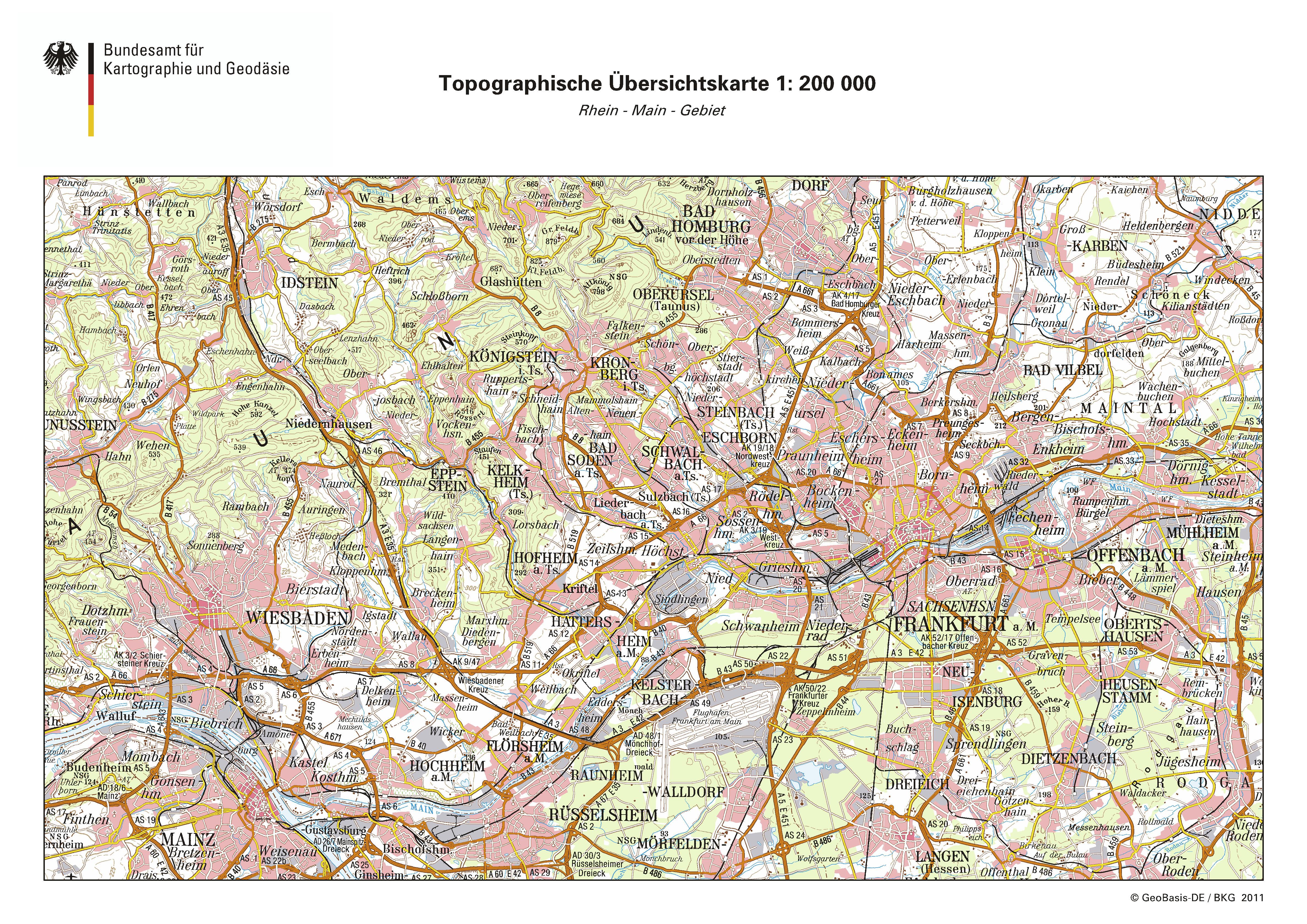 Frankfurt map 2011