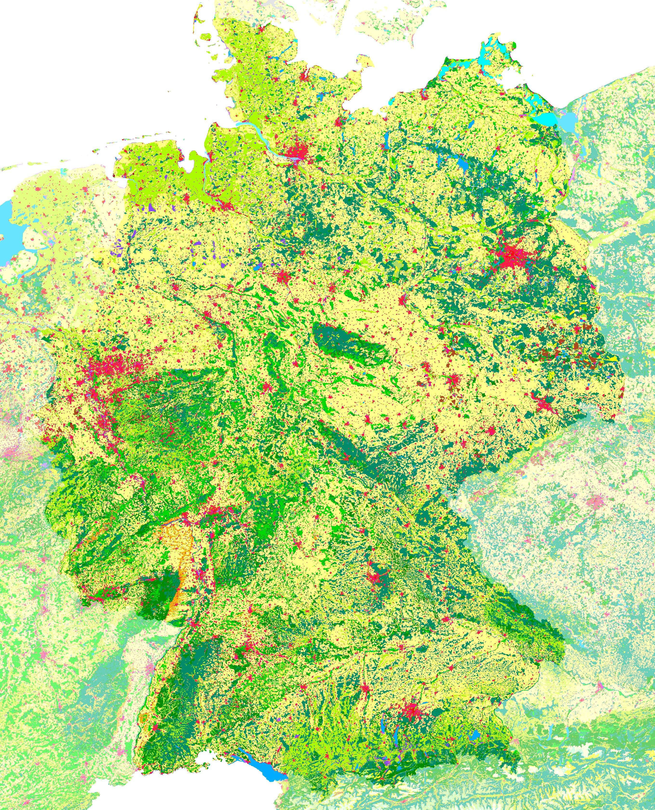 CORINE Land Cover de Alemania