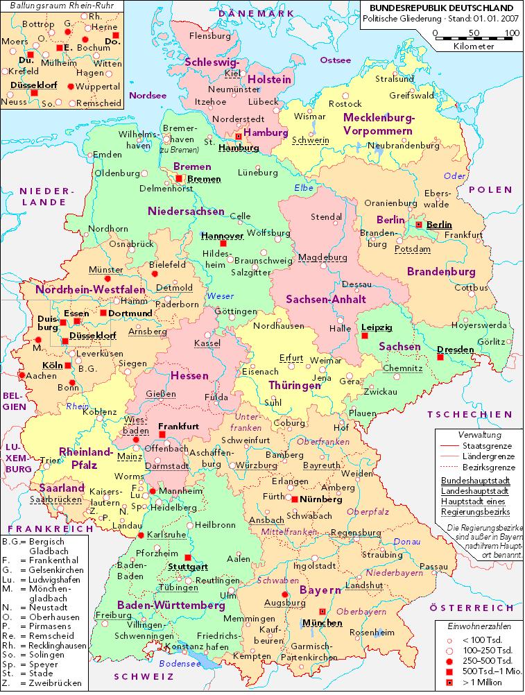 Mapa Político de Alemania 2007