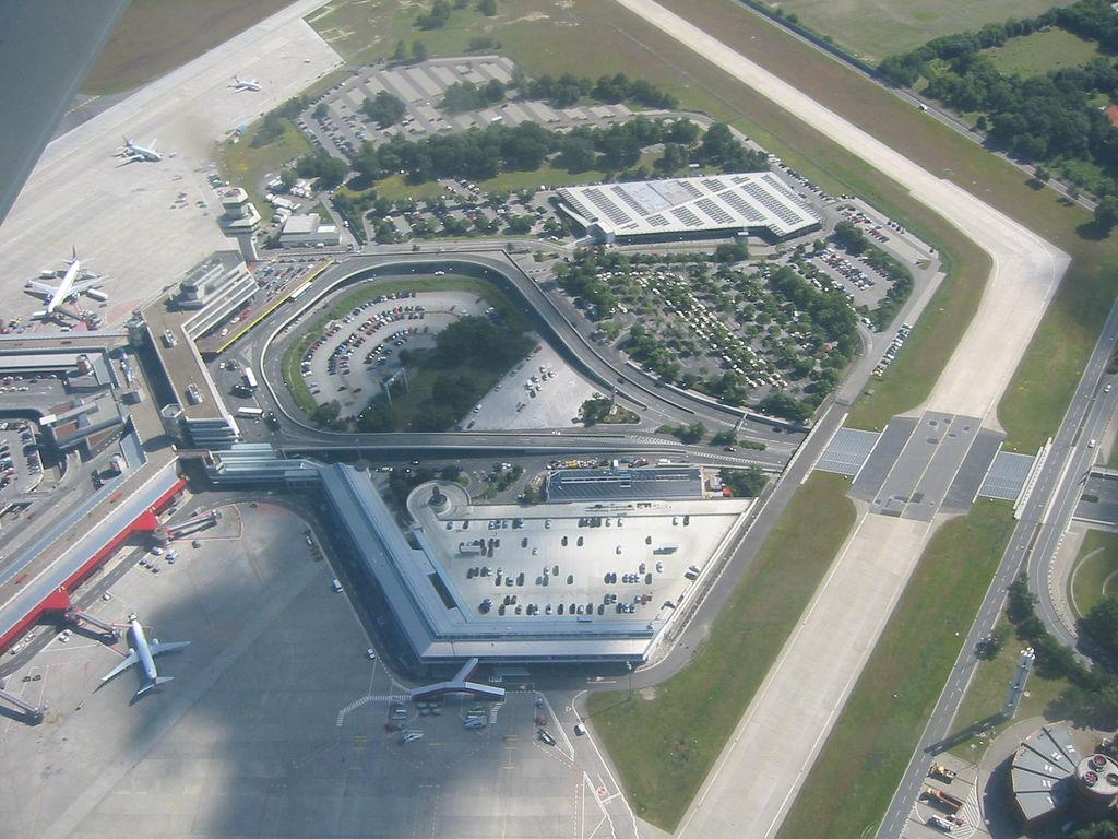 Aerial view of Berlin-Tegel International Airport 2005