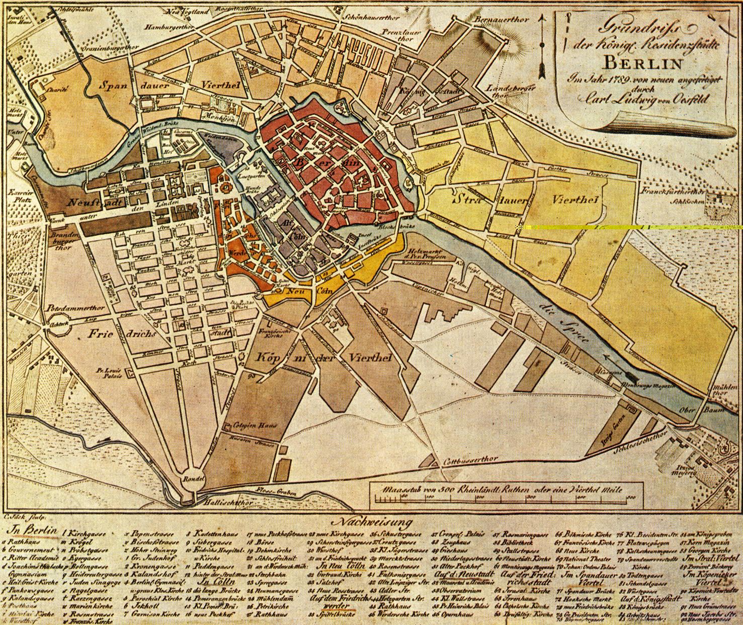 Mapa de Berlín 1789