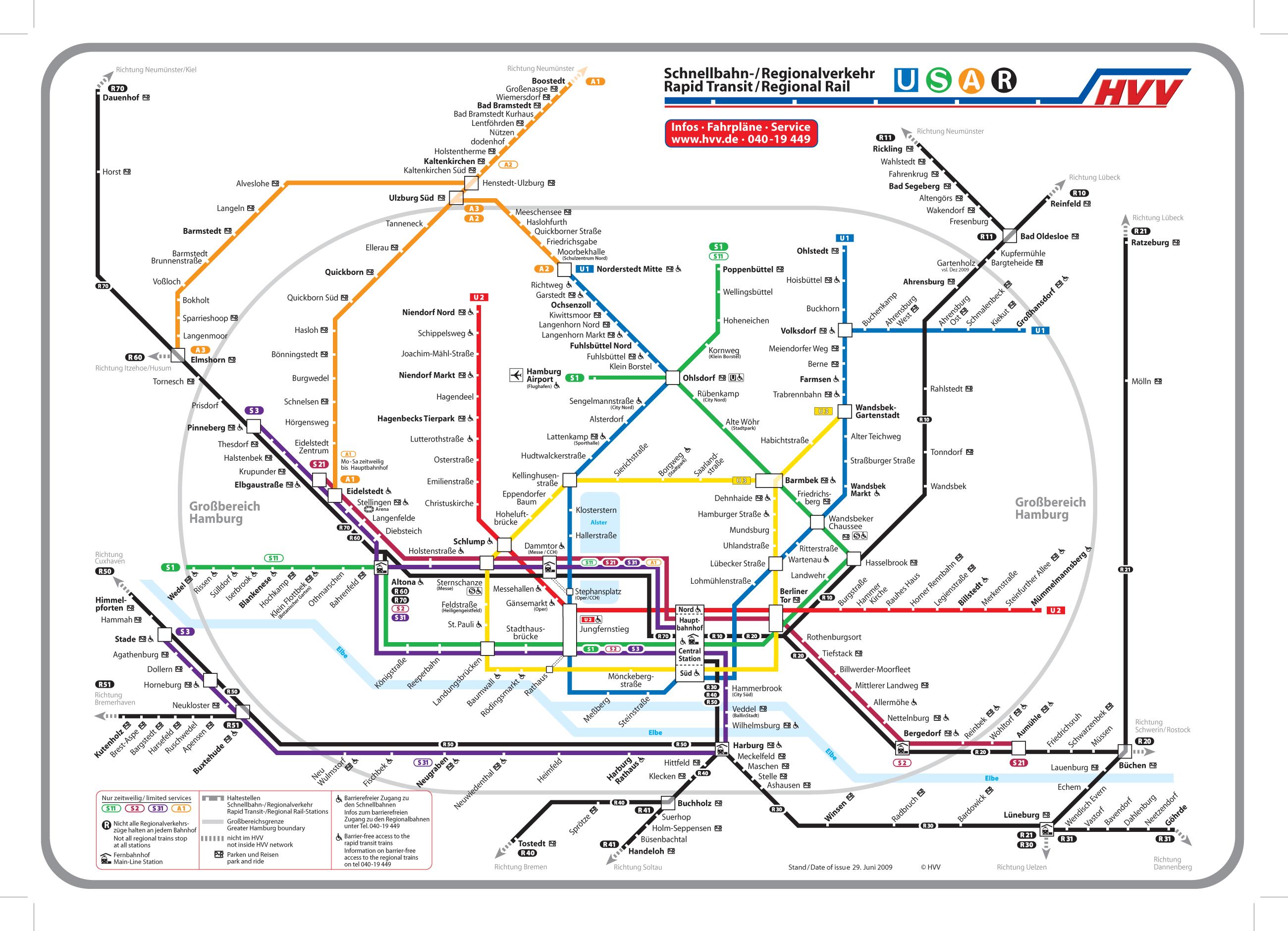 Sistema de transporte público ferroviario regional de Hamburgo