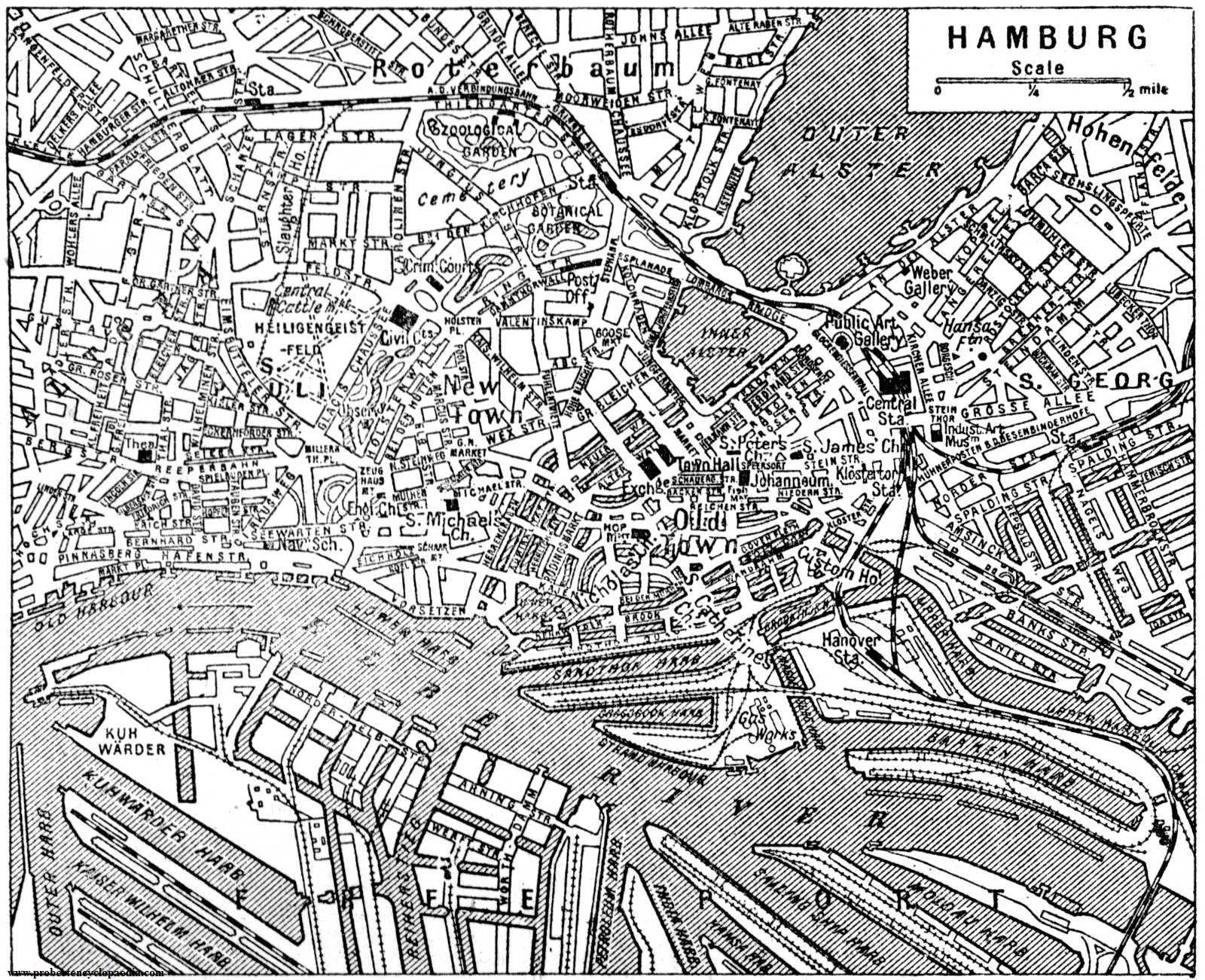 Centro de Hamburgo 1922