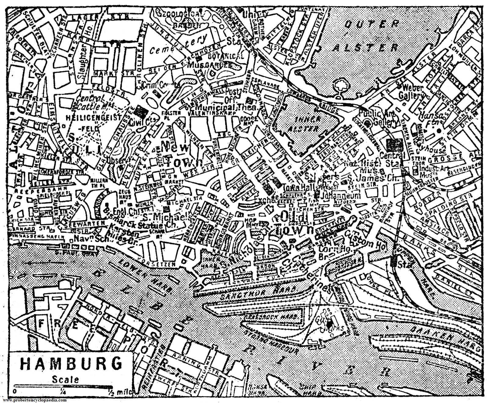 Mapa de Hamburgo 1932