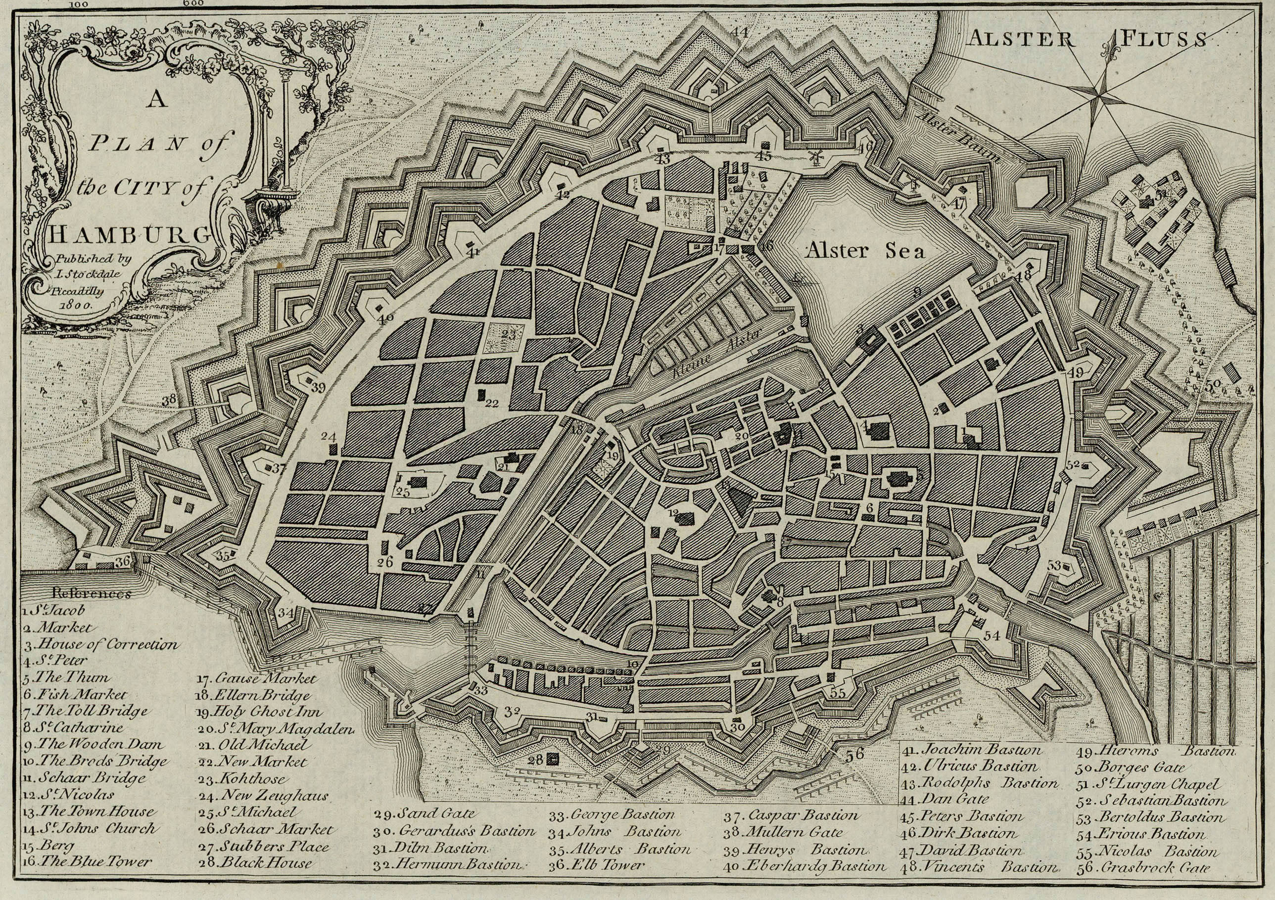 A plan of the City of Hamburg 1800