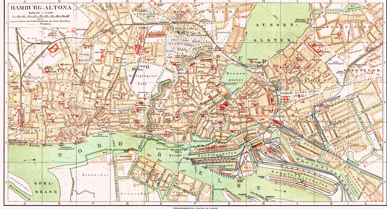 Hamburgo y Altona alrededor de 1890