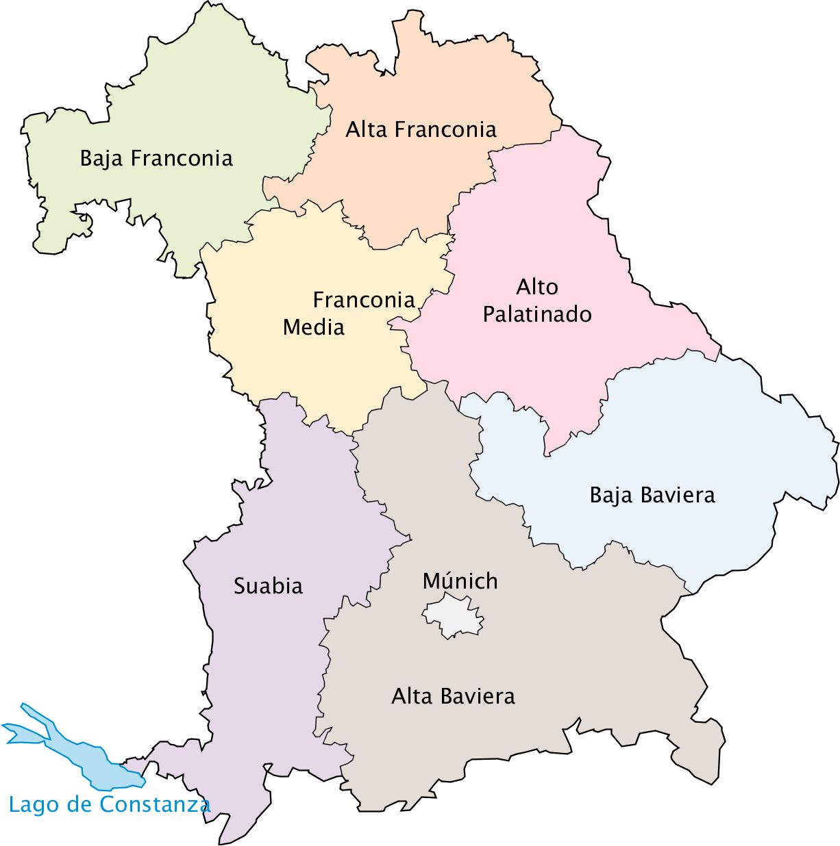 Regiones administrativas de Baviera 2009