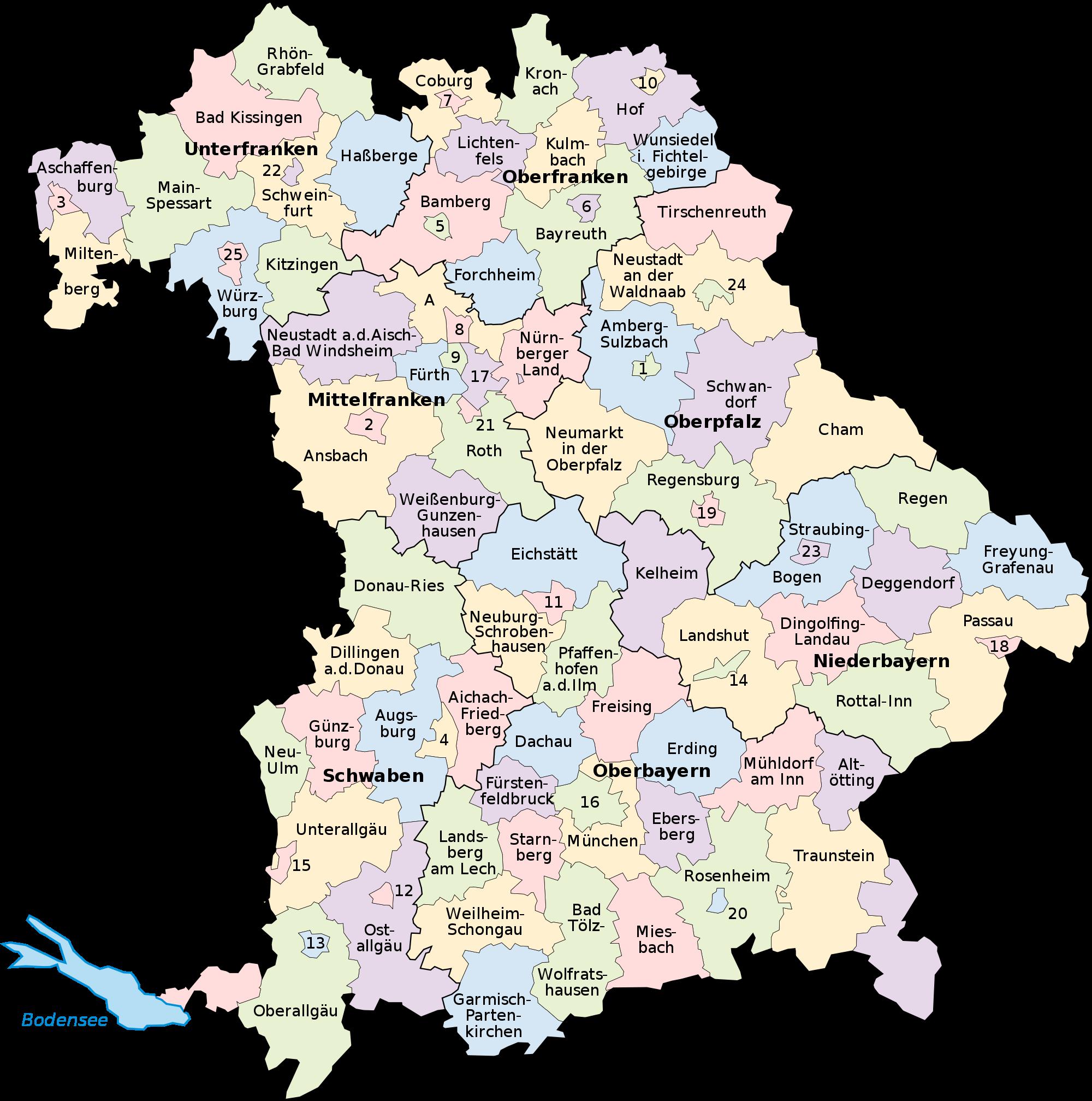 Mapa de Baviera 2008