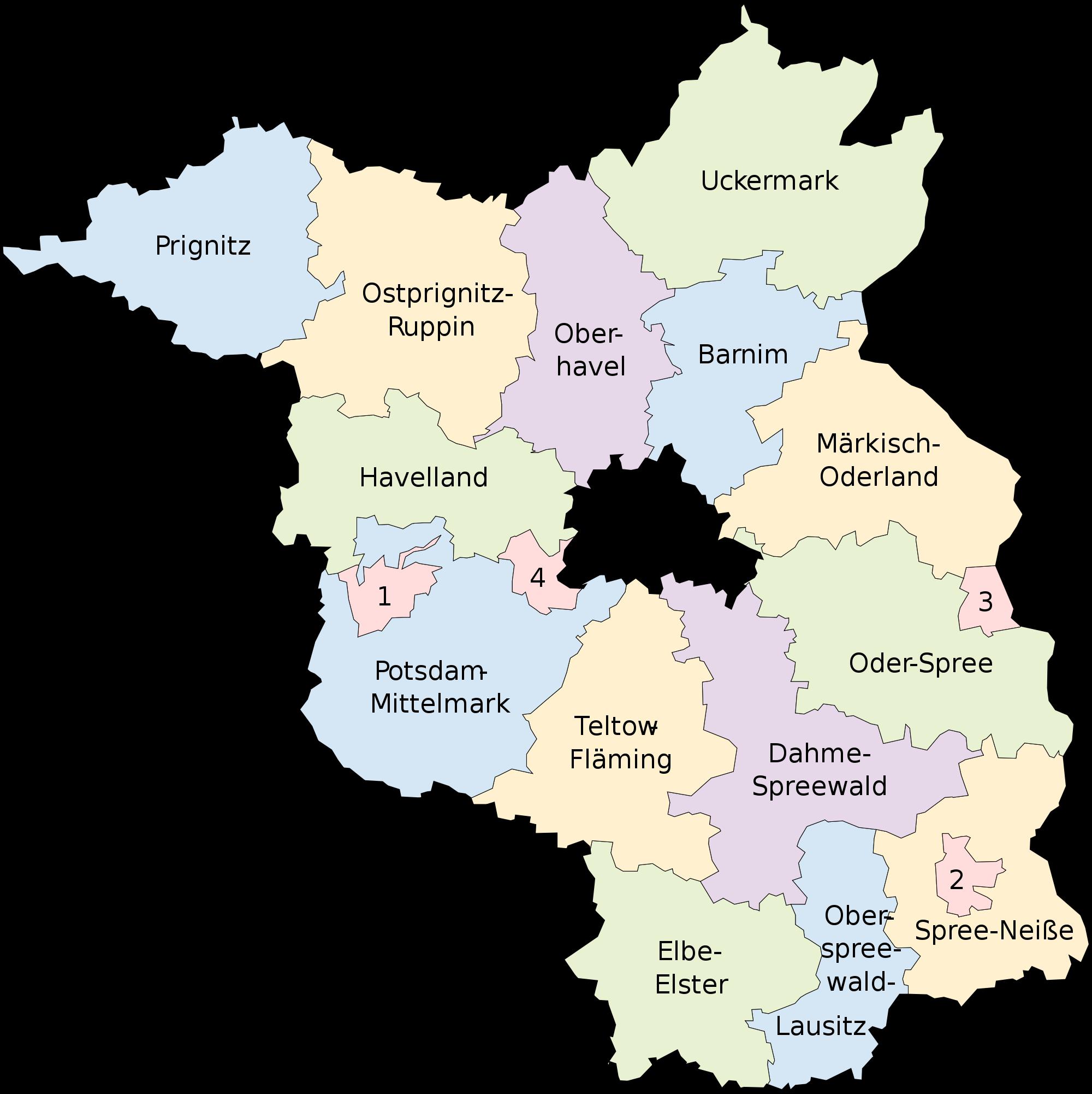 Mapa de Brandeburgo 2008