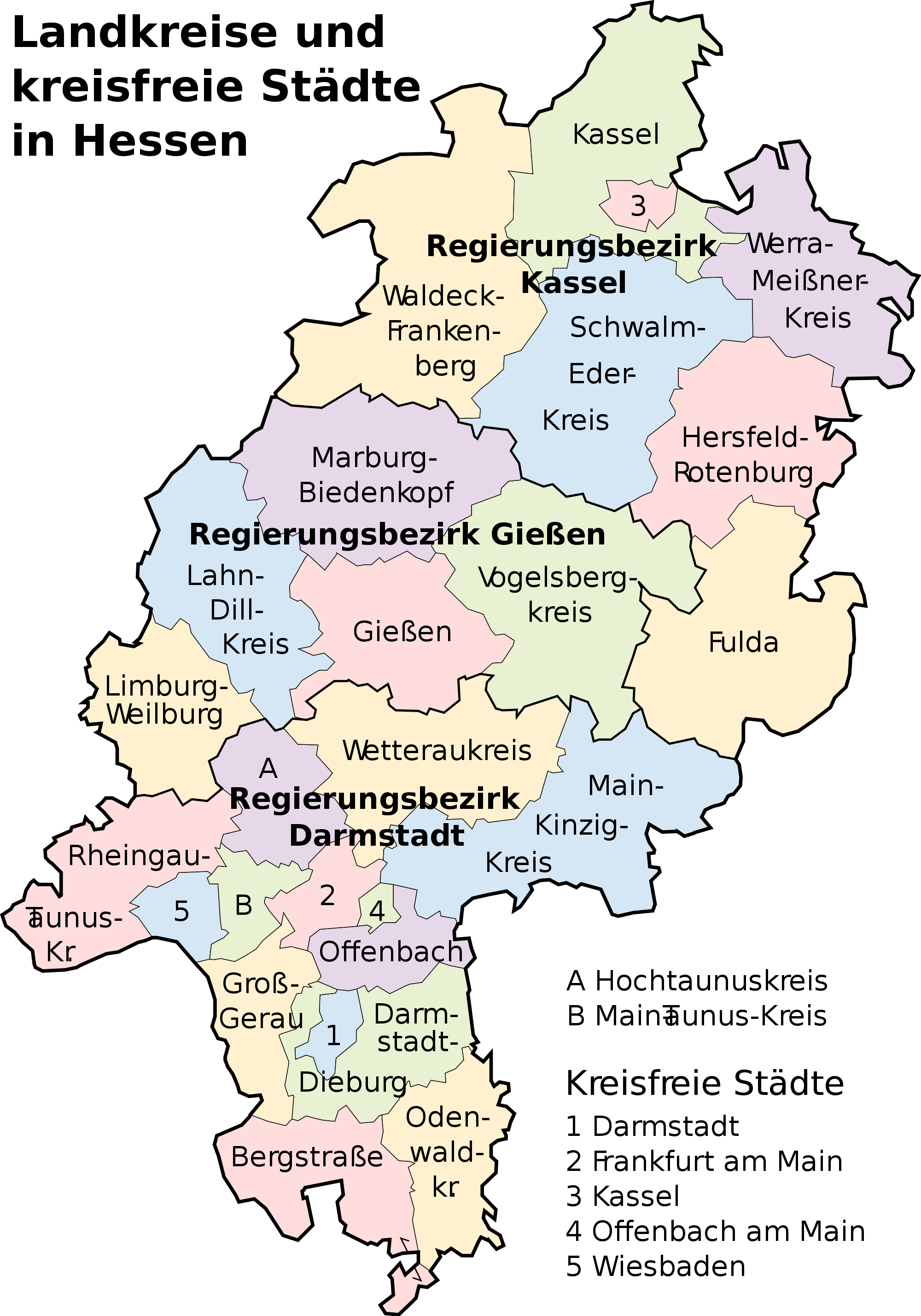 Mapa de Hesse 2008