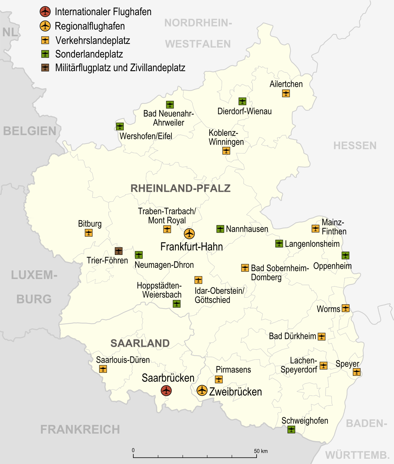 Airports and airfields in Rhineland-Palatinate 2007