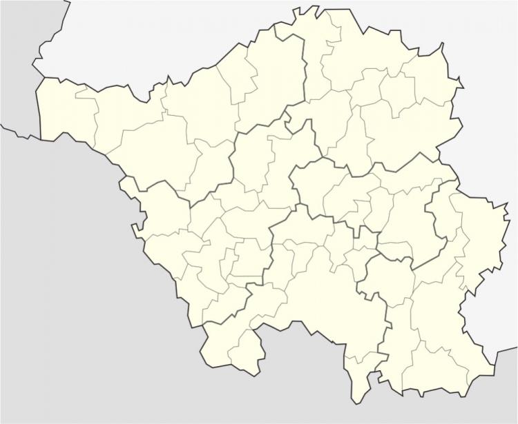 Mapa político mudo del Sarre