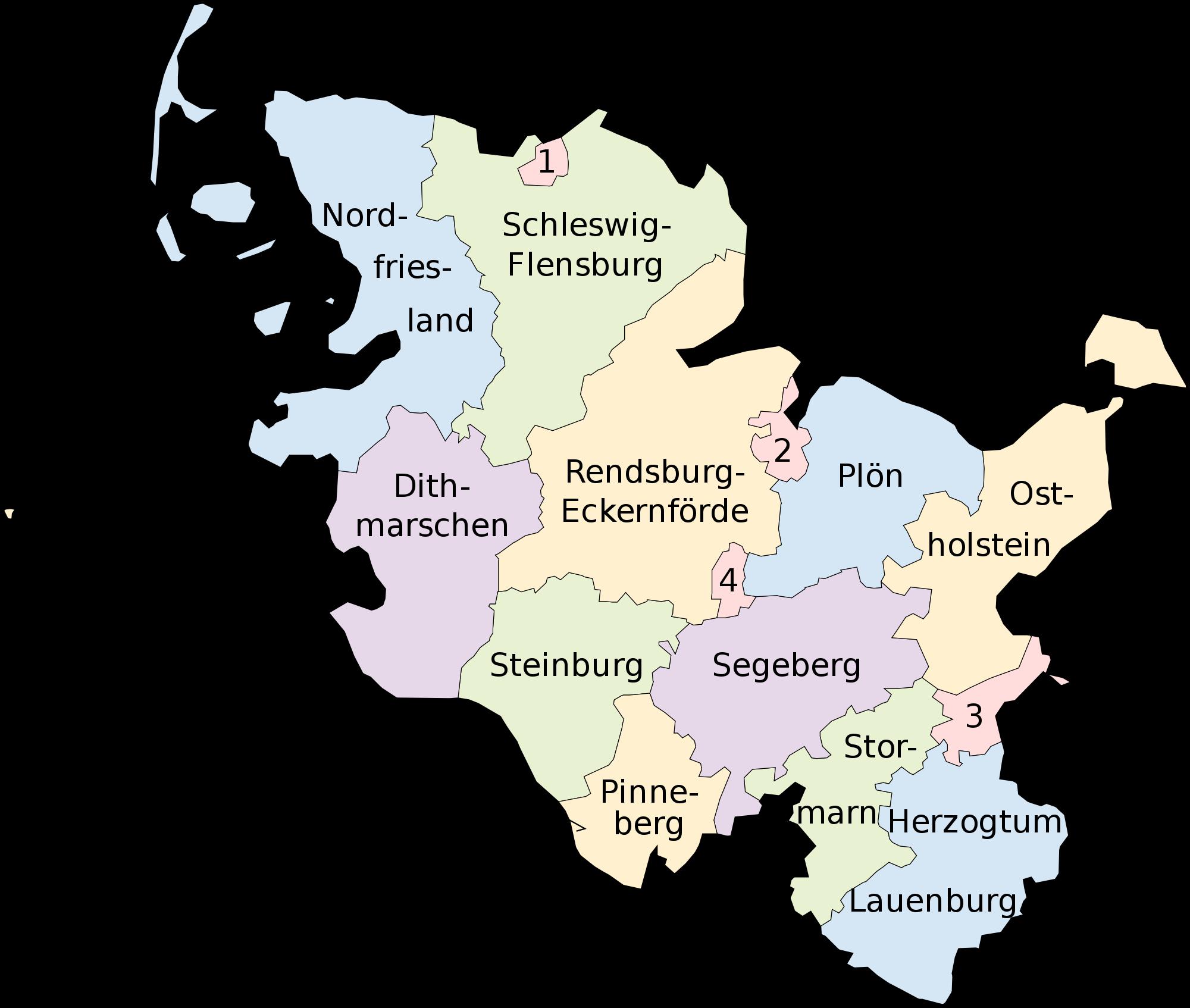 Mapa de Schleswig-Holstein 2008