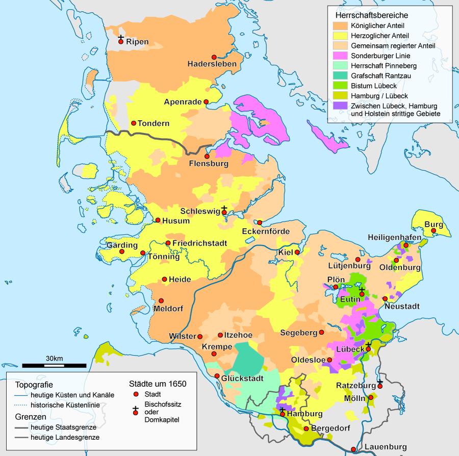 Schleswig-Holstein, after 1650
