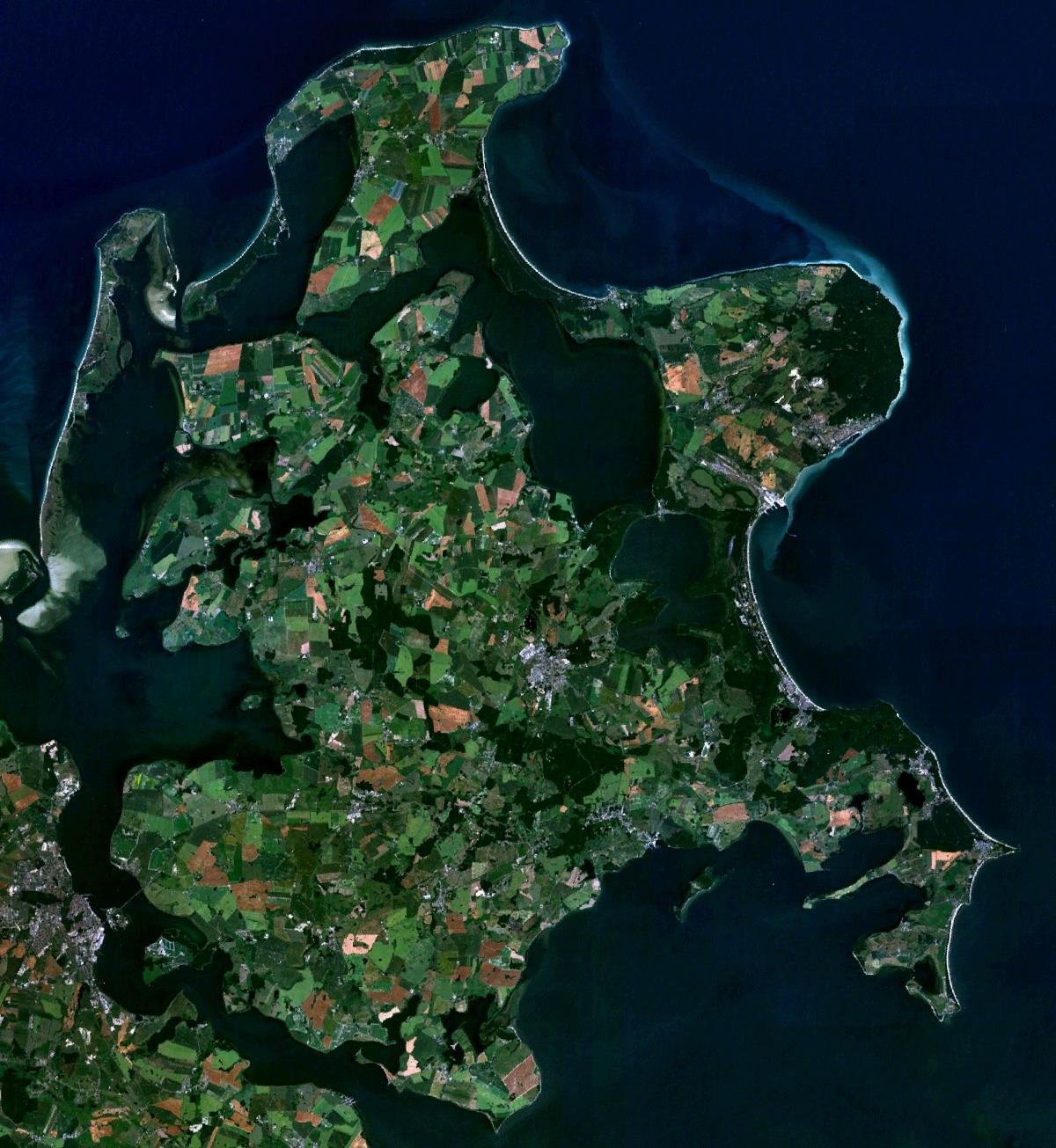 Imagen satélite de Rügen