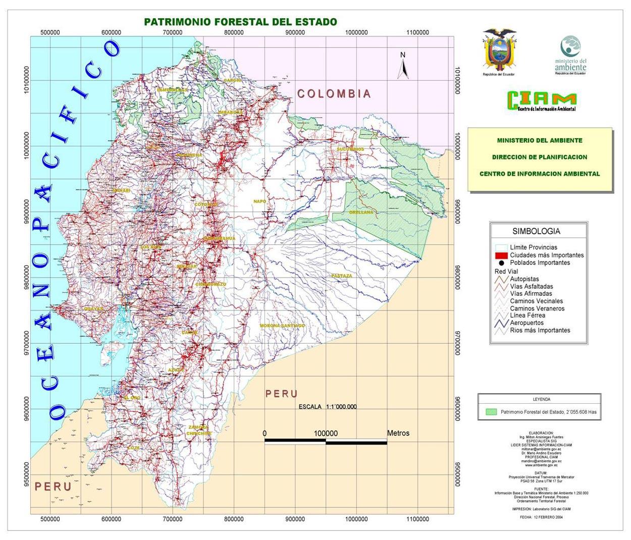 Ecuadorian State forest patrimony 2004