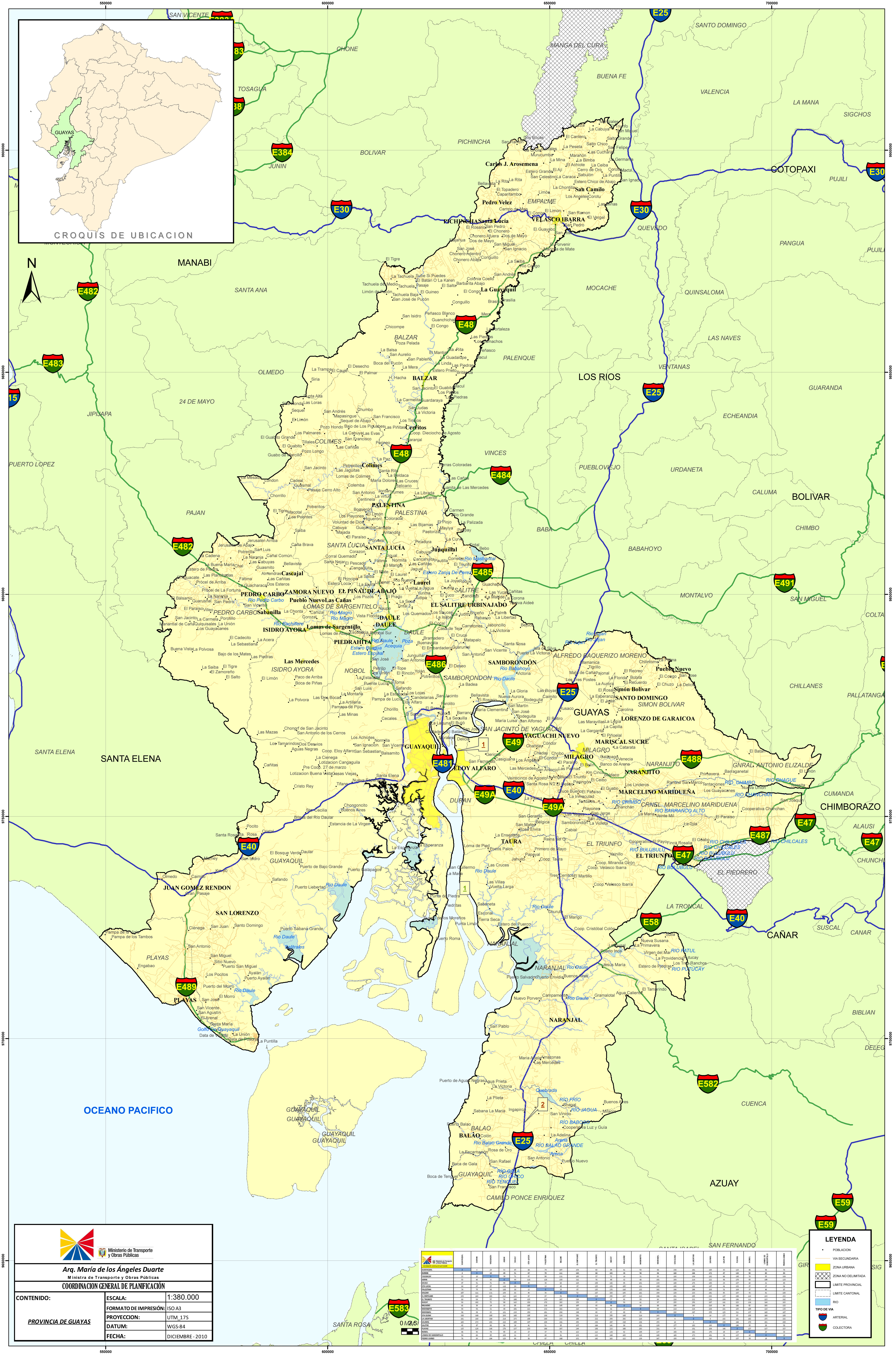 Map of Guayas 2010