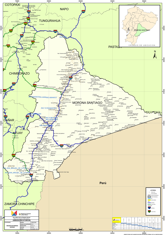 Mapa de Morona Santiago 2010