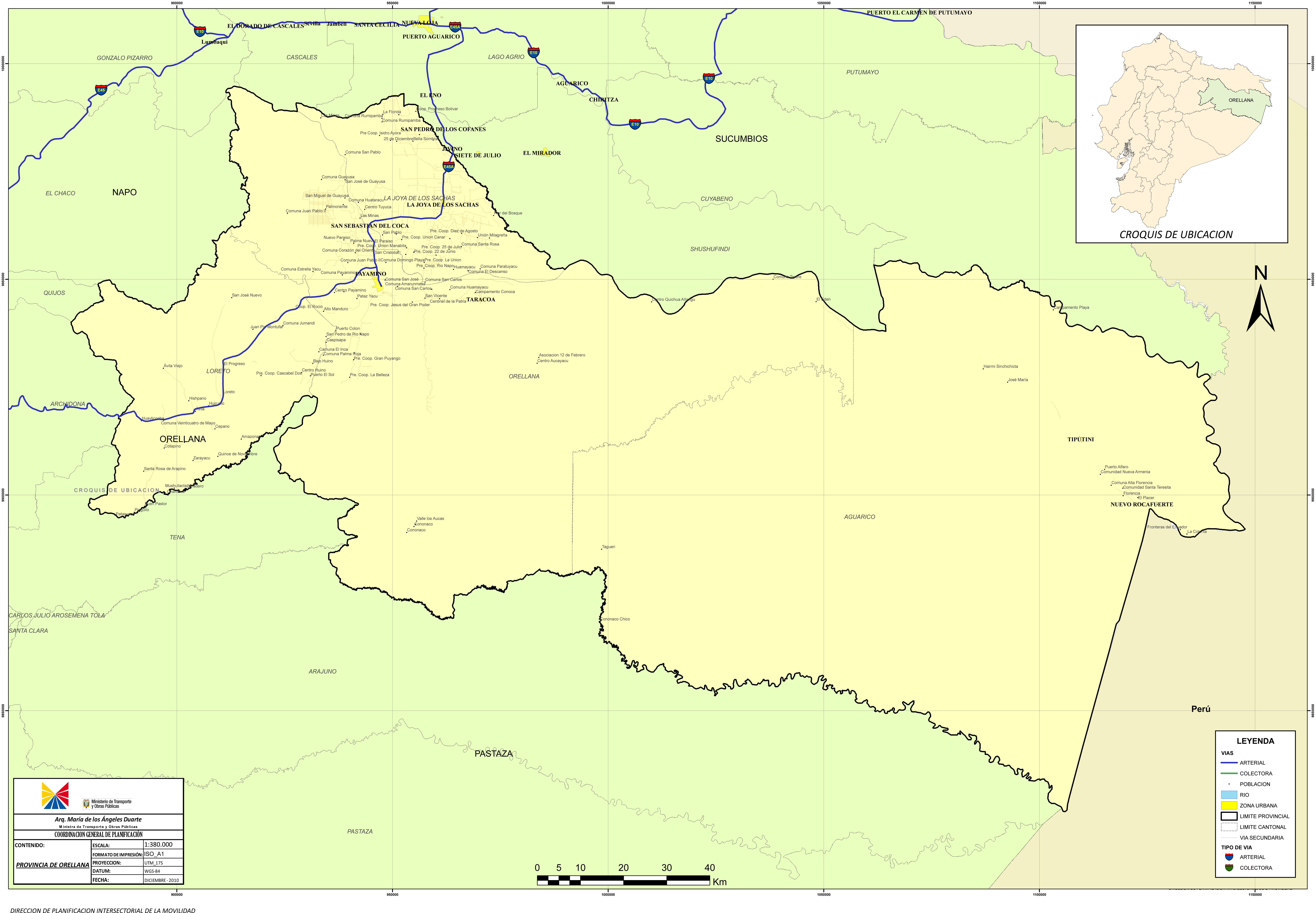 Mapa de Orellana 2010