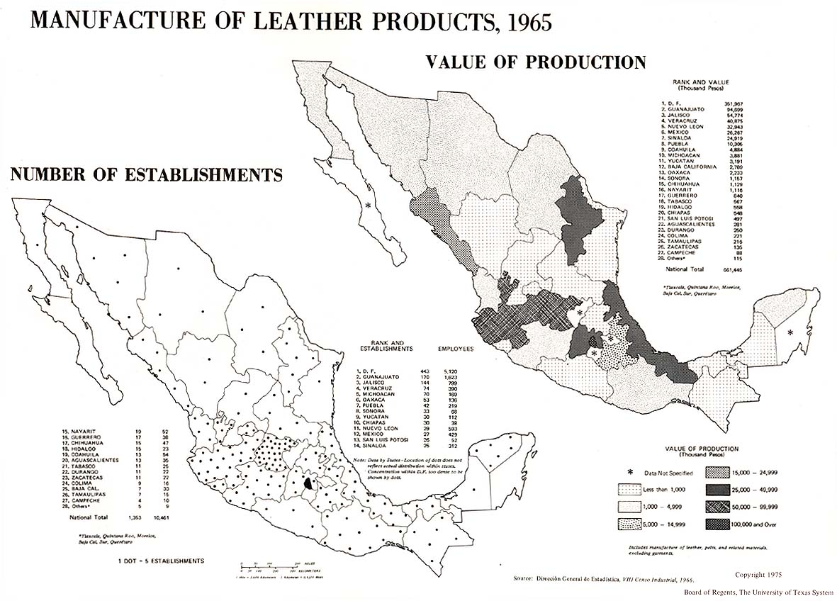Manufacture of Leather Products in Mexico 1965