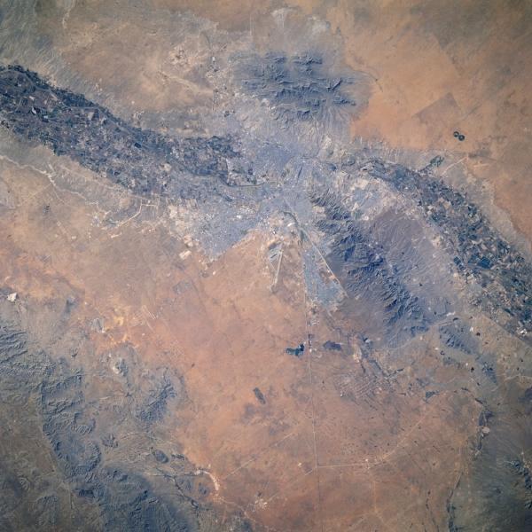 Mapa de Imagen satelital de Juarez, Mexico / El Paso, Texas