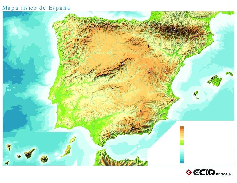 Mapa De Espana Pdf.Mapa Fisico De Espana Mudo Mapa Owje Com