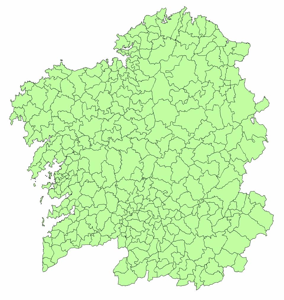 Mapa de Municipios de Galicia 2003