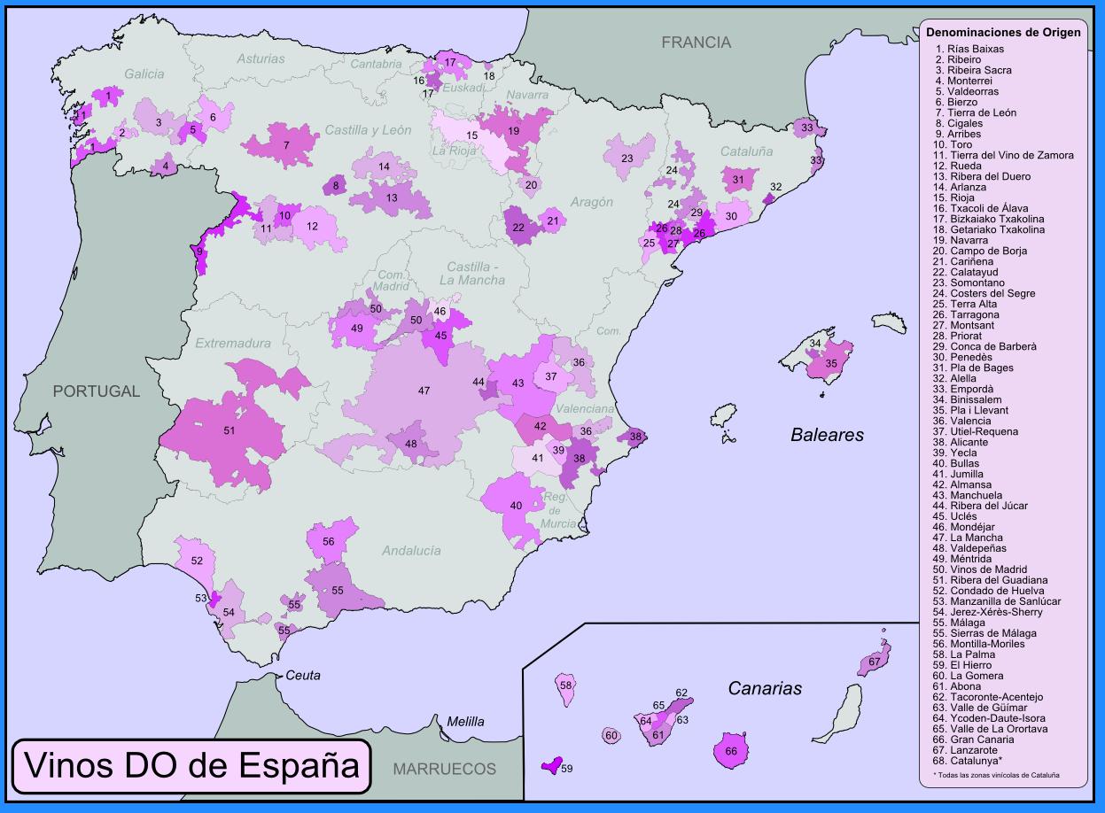 Mapa de Vinos de España