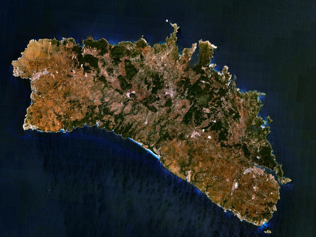 Mapa satelital de Isla Menorca